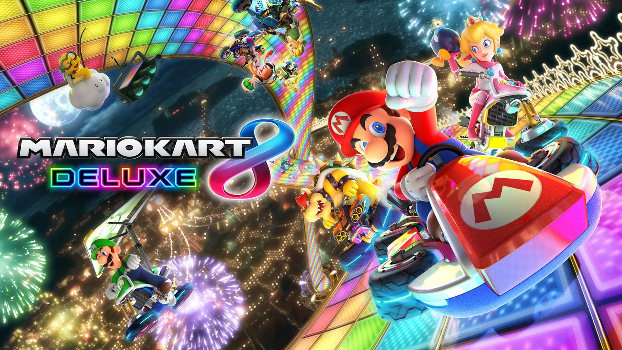 """Die """"Rainbow Road"""" wird es garantiert auch in """"Mario Kart 8 Deluxe"""" geben."""