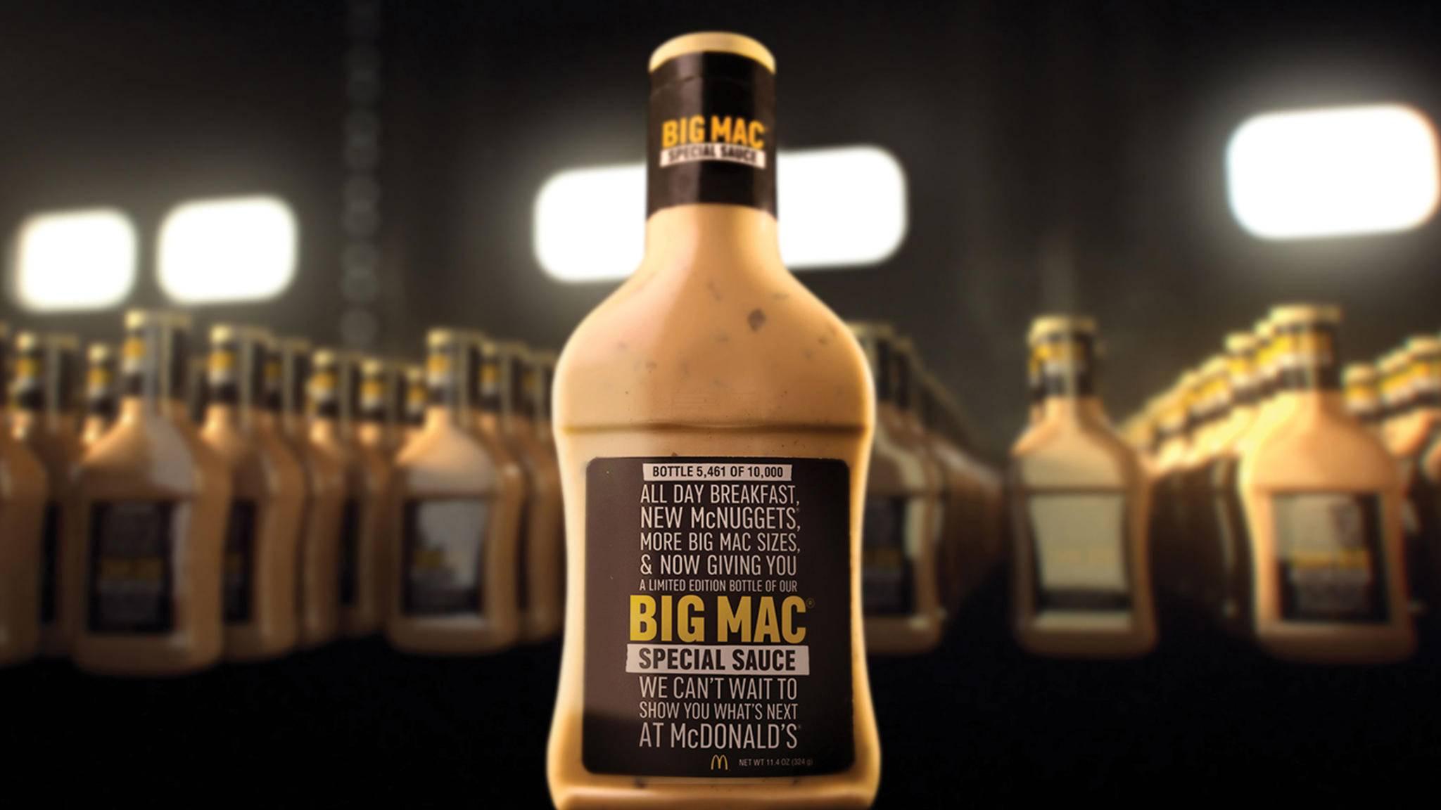Heiß begehrt: Die Soße für den Big Mac von McDonald's.