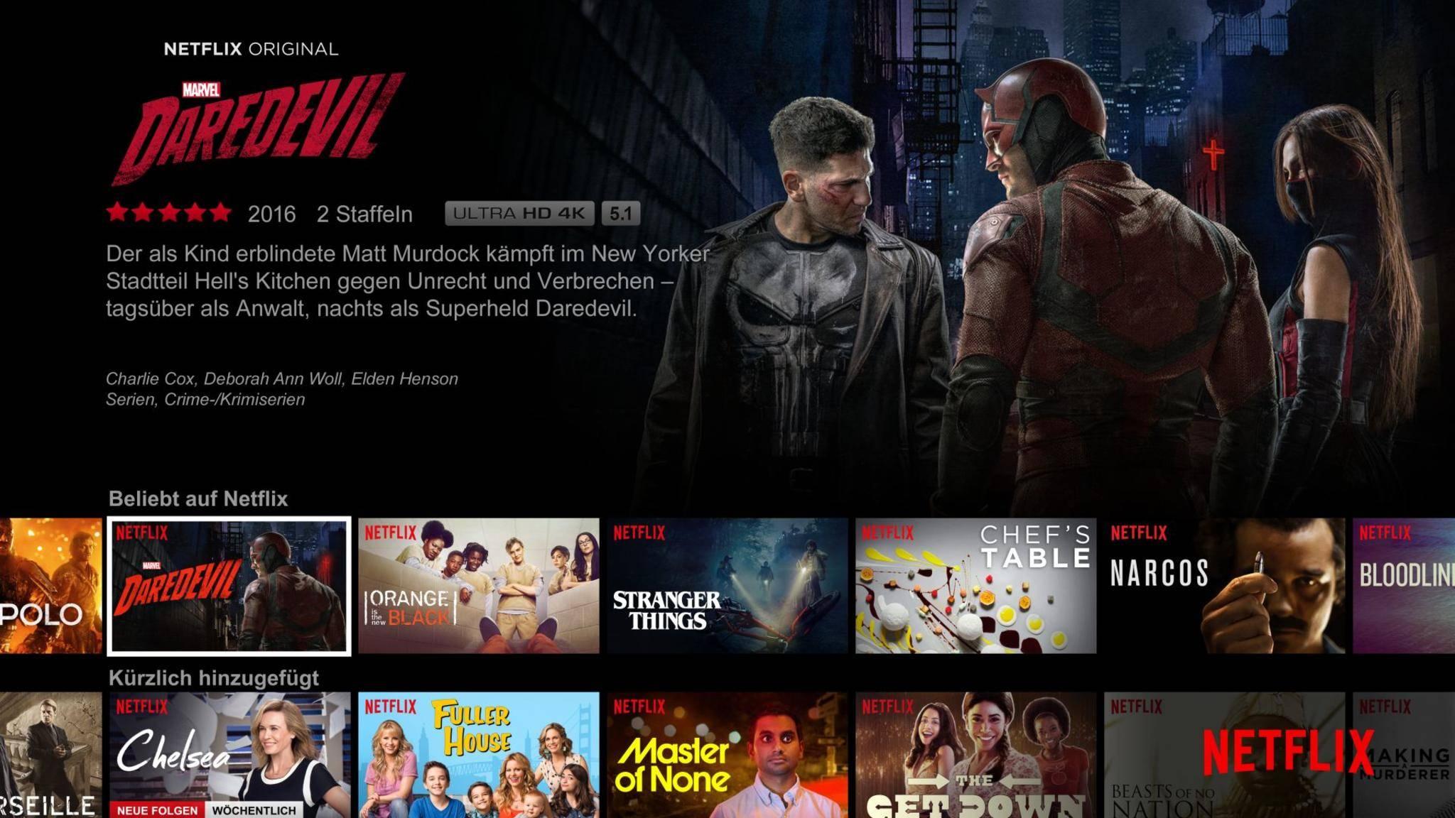 Netflix bietet ein breites Angebot an Filmen und Serien.
