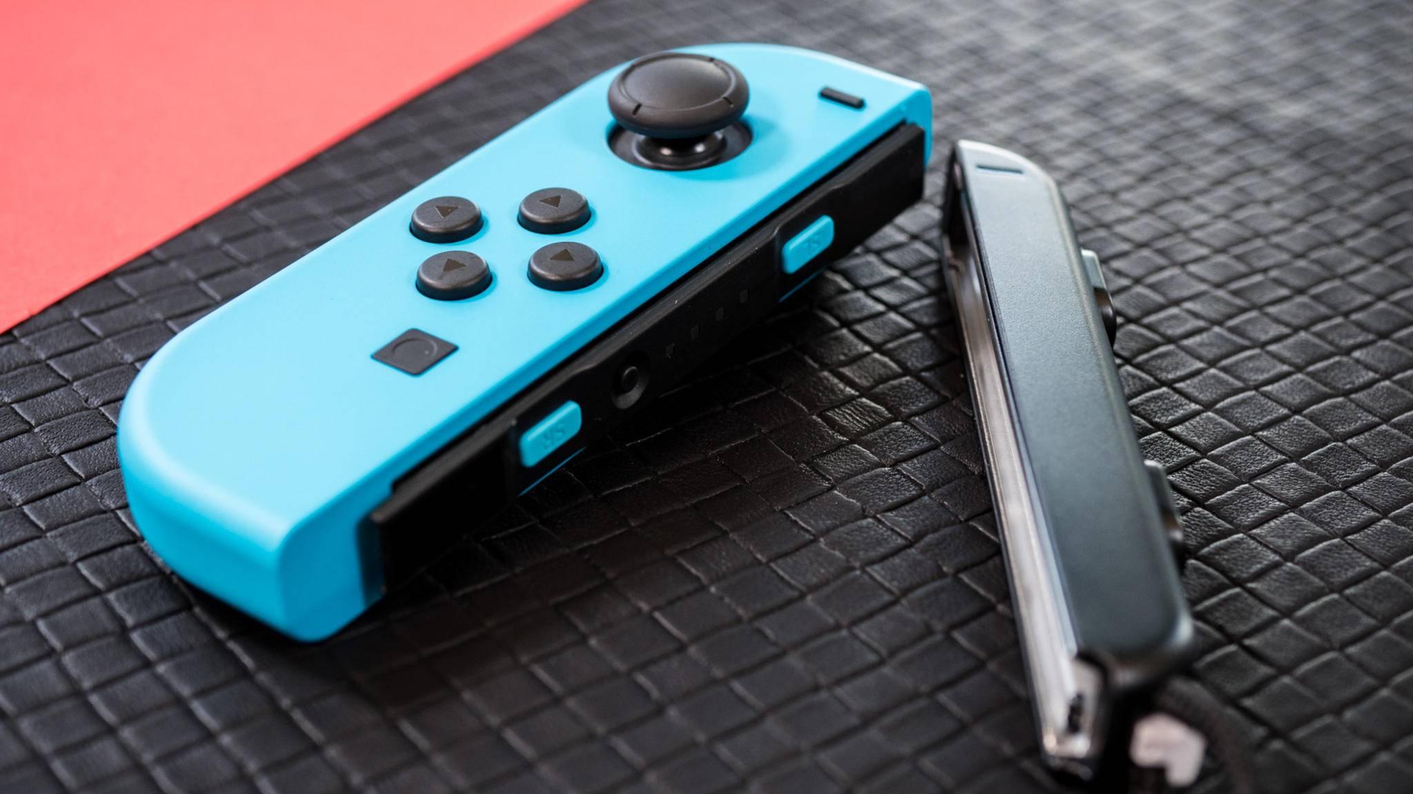 Können je nach Spiel zusammen oder einzeln verwendet werden: die Joy-Con-Controller.