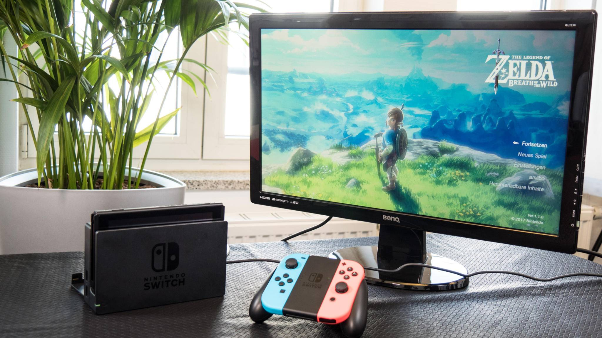 Die Nintendo Switch im TV-Modus.