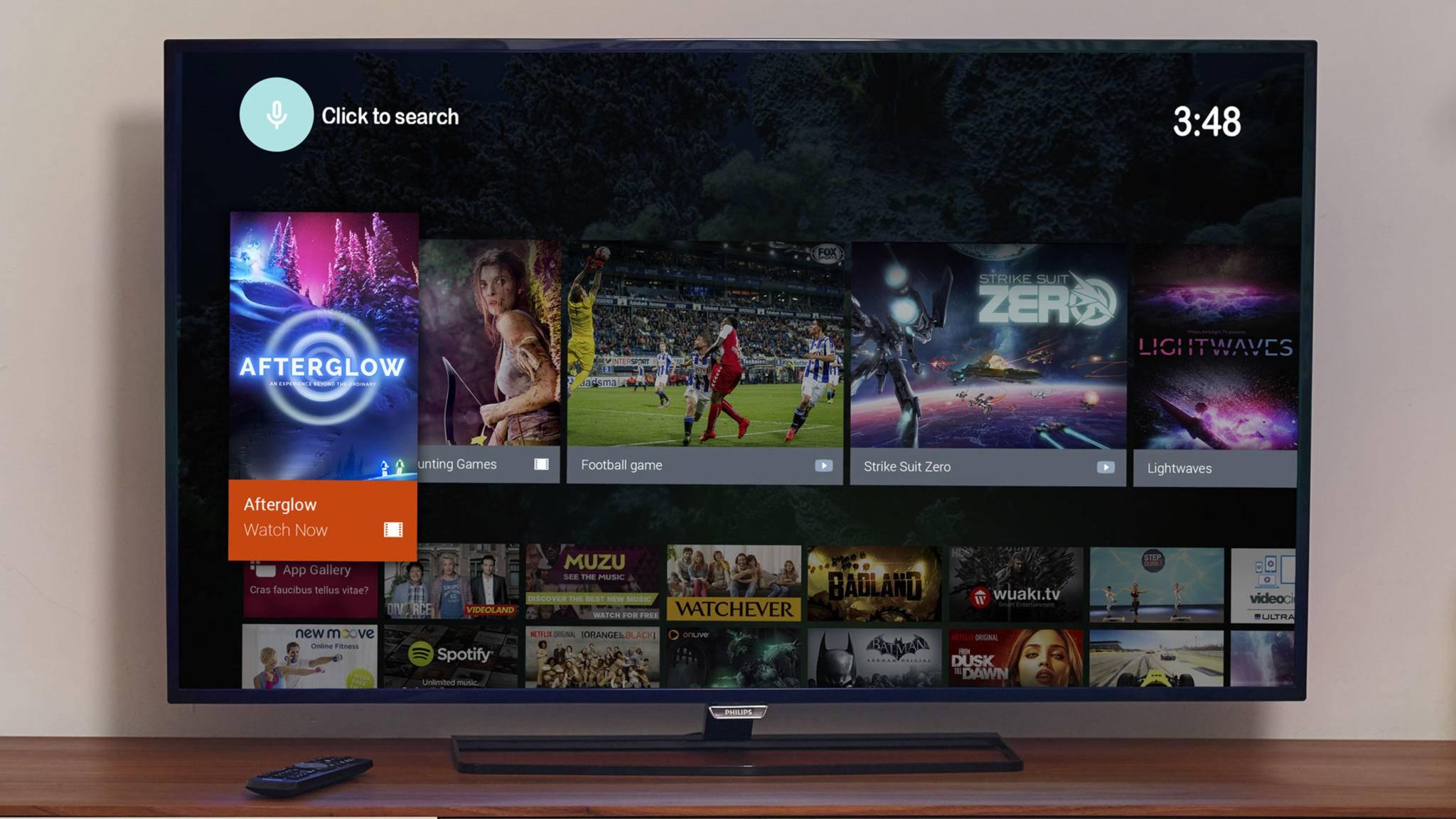 Fernseher mit Android TV werden künftig um den Google Assistant erweitert.