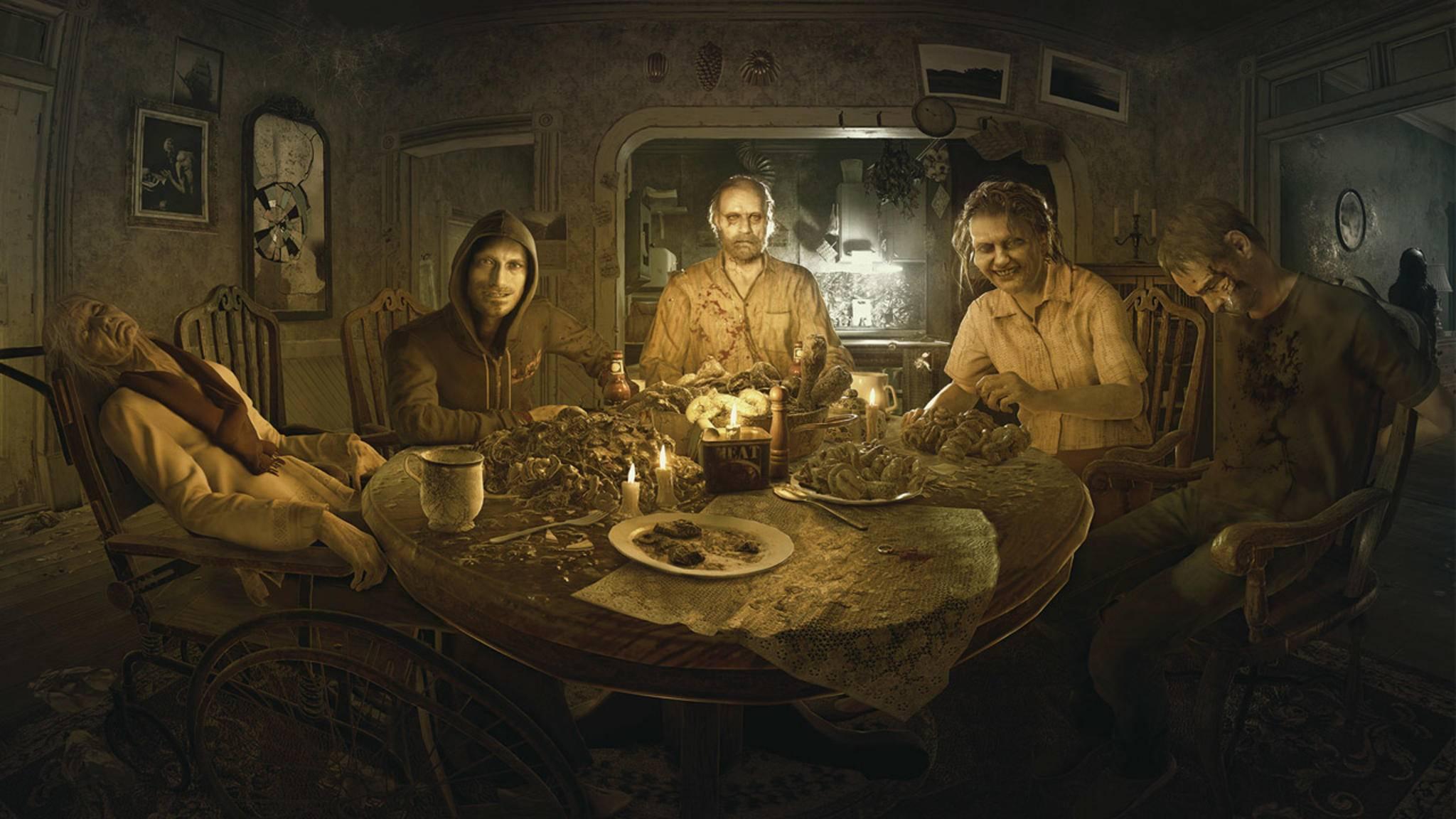 """Die Baker-Familie: Nette Bekannte in """"Resident Evil 7: Biohazard""""."""