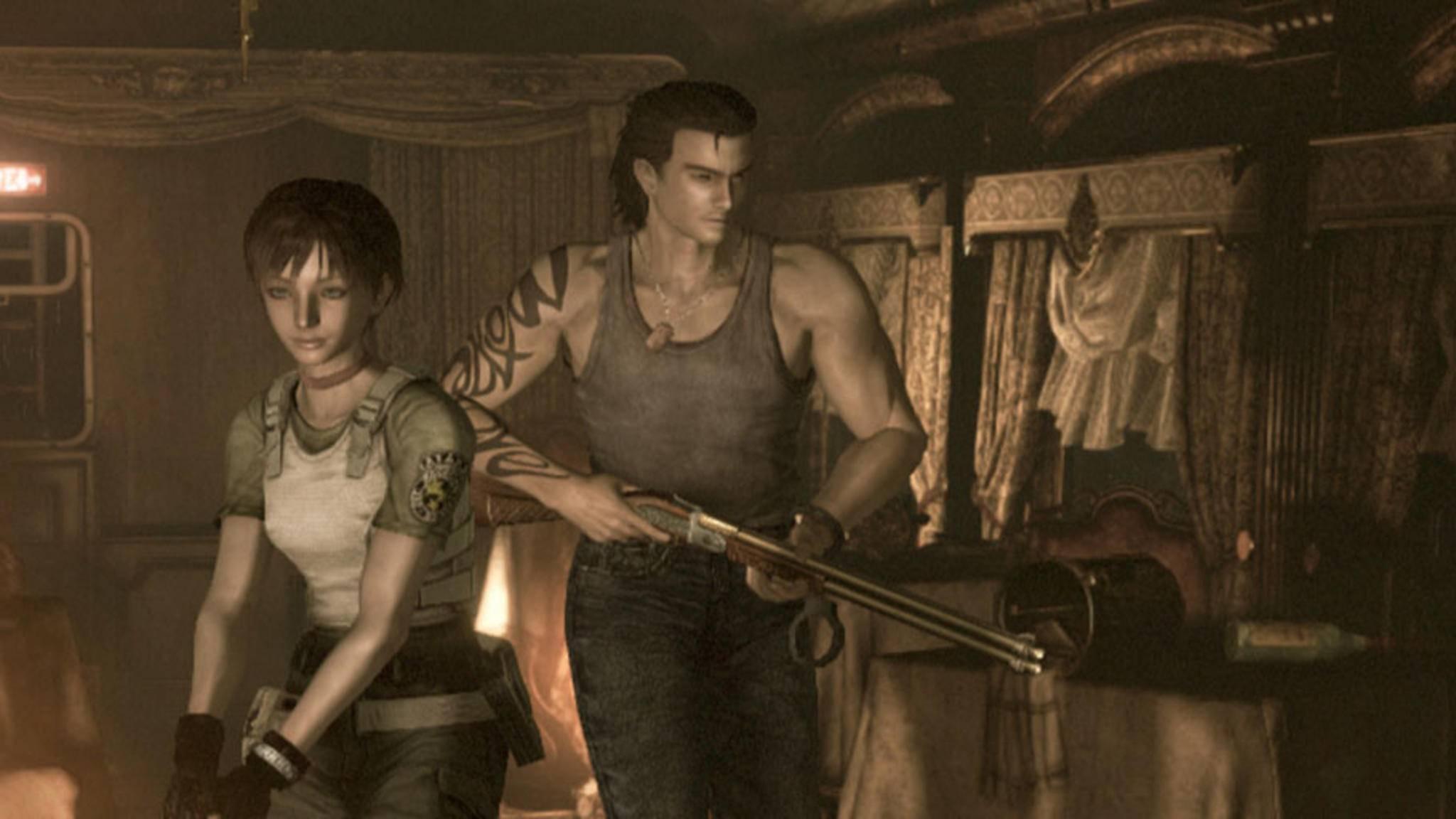 """In """"Resident Evil 0"""" bleibt Billy Coen stets an der Seite von Rebecca."""