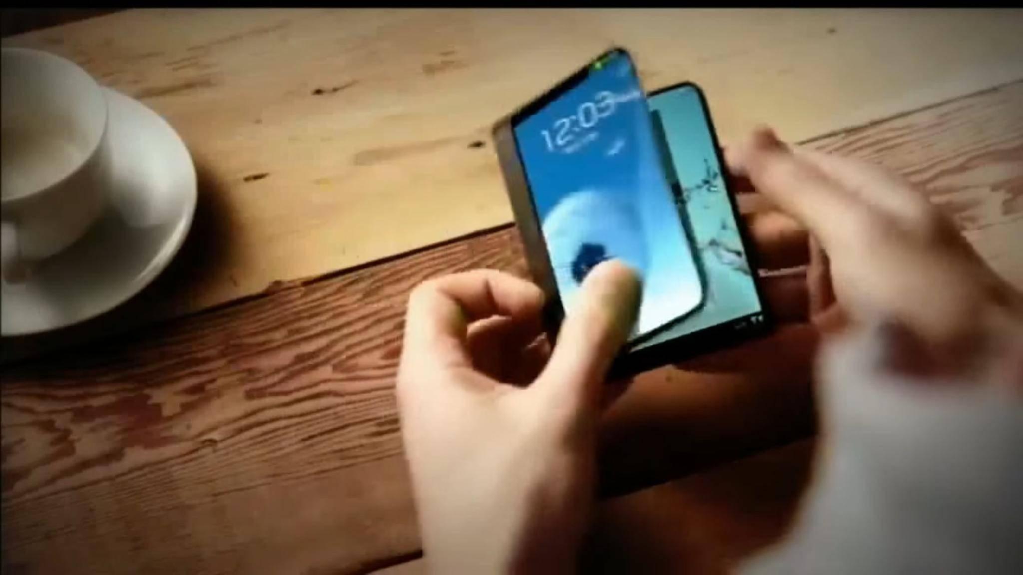 Noch dieses Jahr möchte Samsung sein faltbares Smartphones vorstellen.