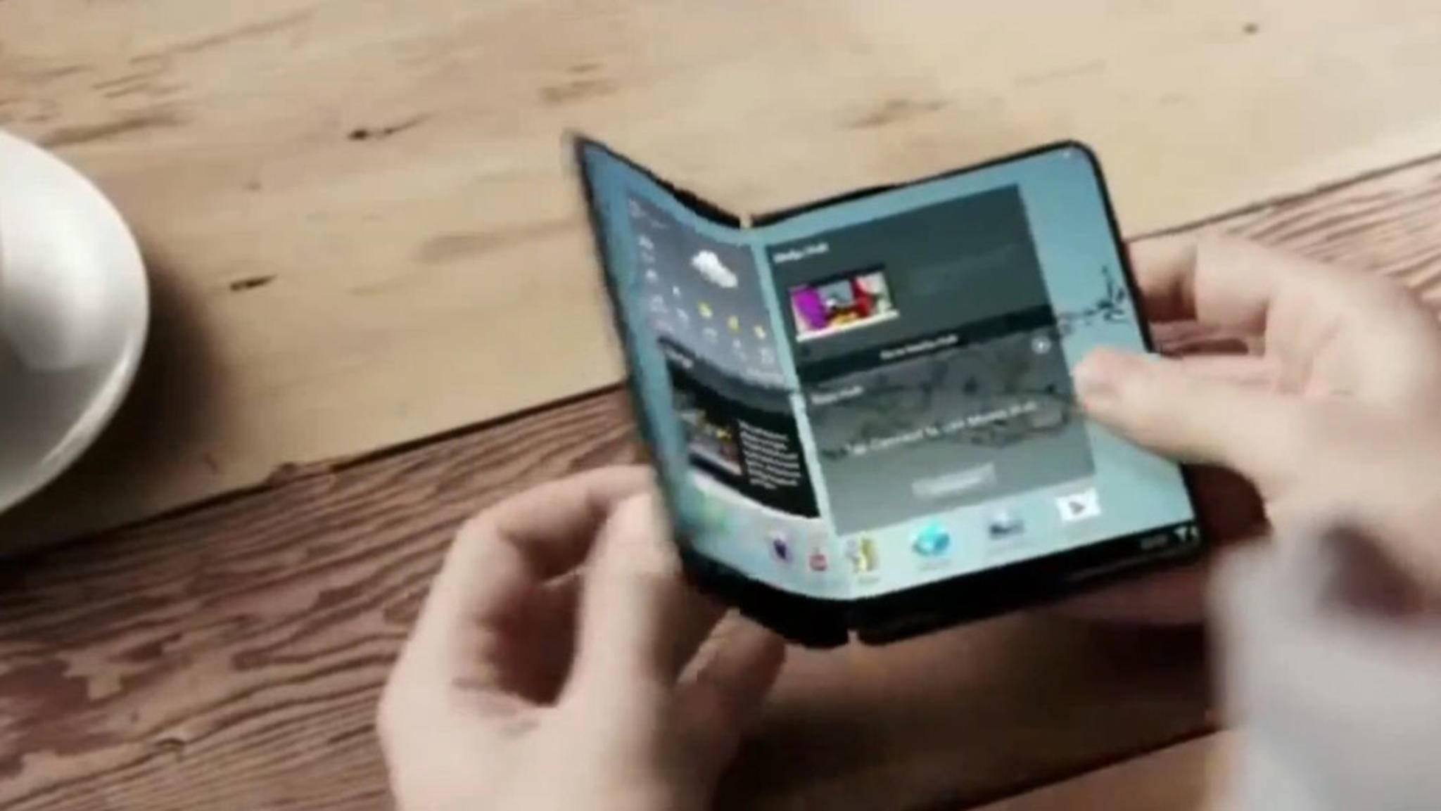 Das faltbare Smartphone von Samsung könnte schon bald Realität werden.