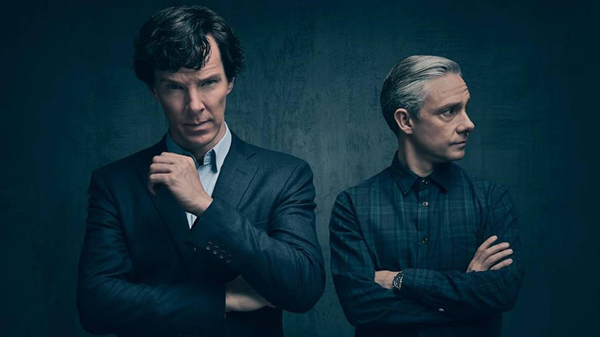 """Benedict Cumberbatch (links) galt als nicht """"sexy"""" genug für die Rolle des Sherlock Holmes."""