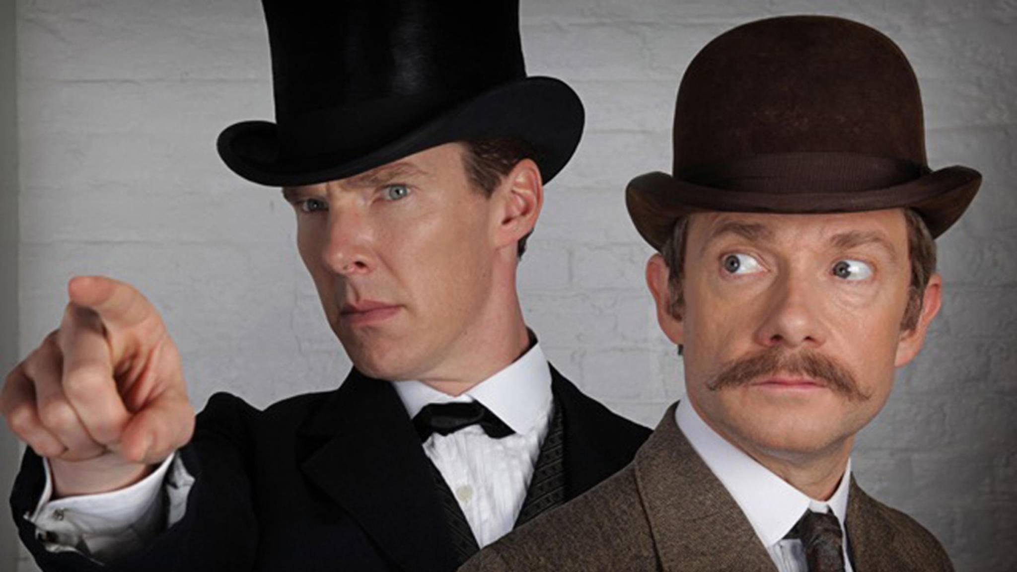 Für Benedict Cumberbatch (l.) und Martin Freeman hatte eine Szene aus Staffel 4 es in sich.