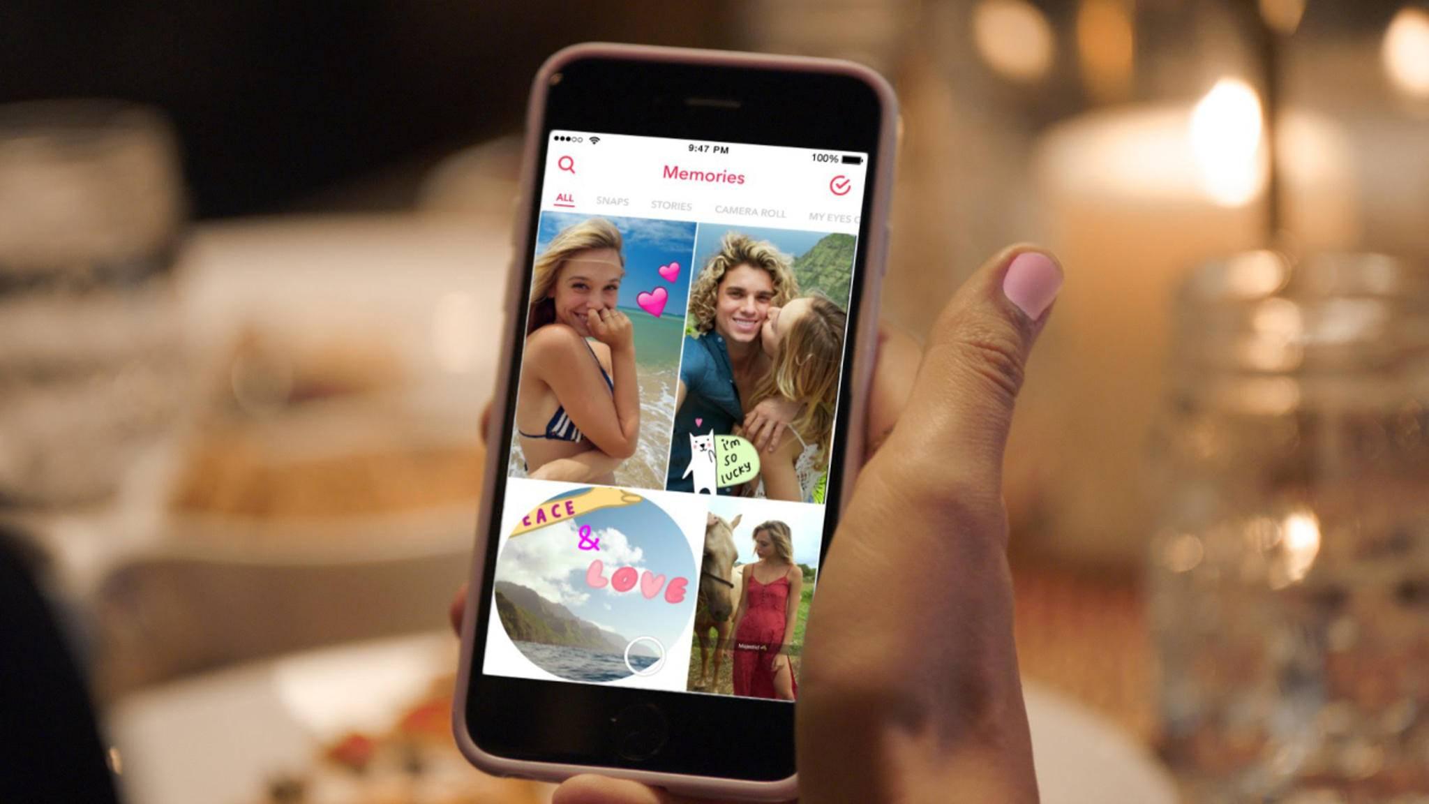 Snapchat-Suche