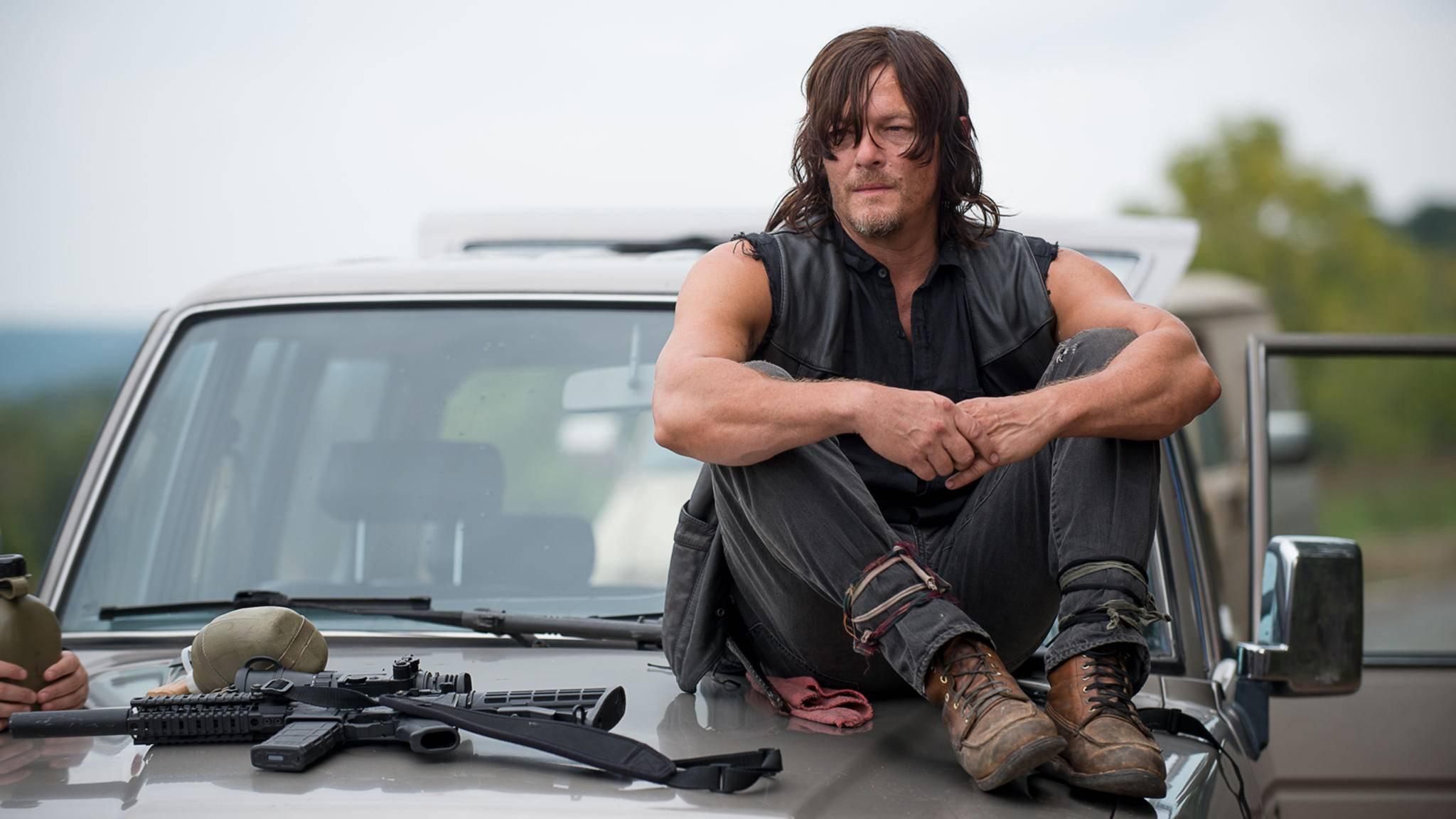 Daryl-Darsteller Norman Reedus freut sich mit den Fans auf Staffel 8.