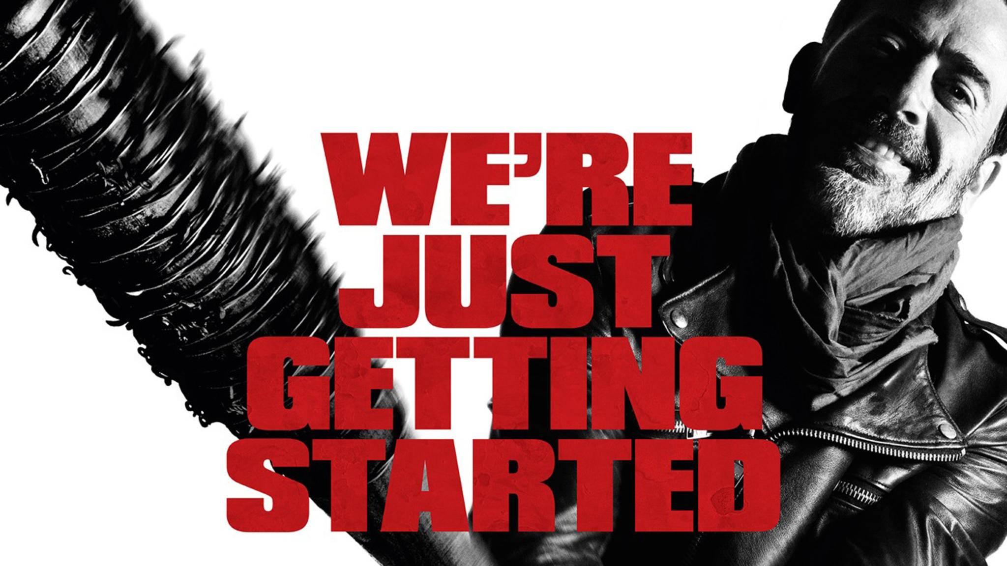 """Gleich mit seiner ersten Szene hat Negan in """"The Walking Dead"""" für einen erinnerungswürdigen Moment gesorgt."""