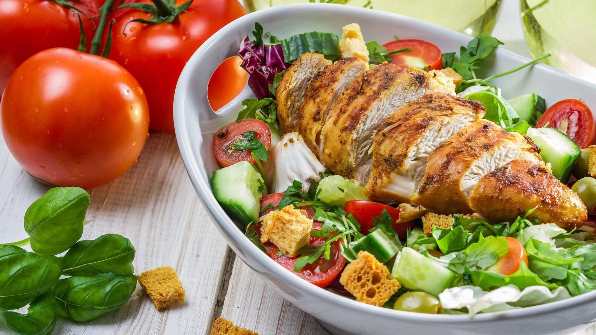 Immer eine gute und gesunde Wahl: Hähnchenfleisch.