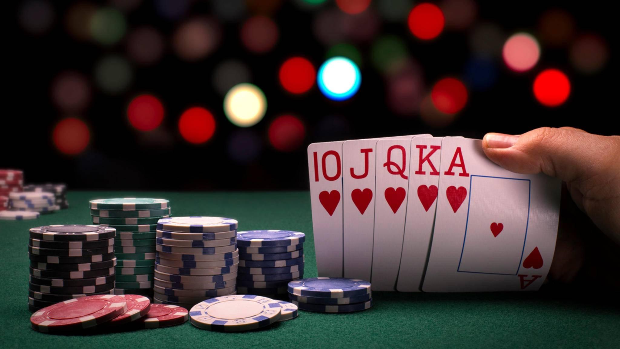 Blatt Beim Pokern