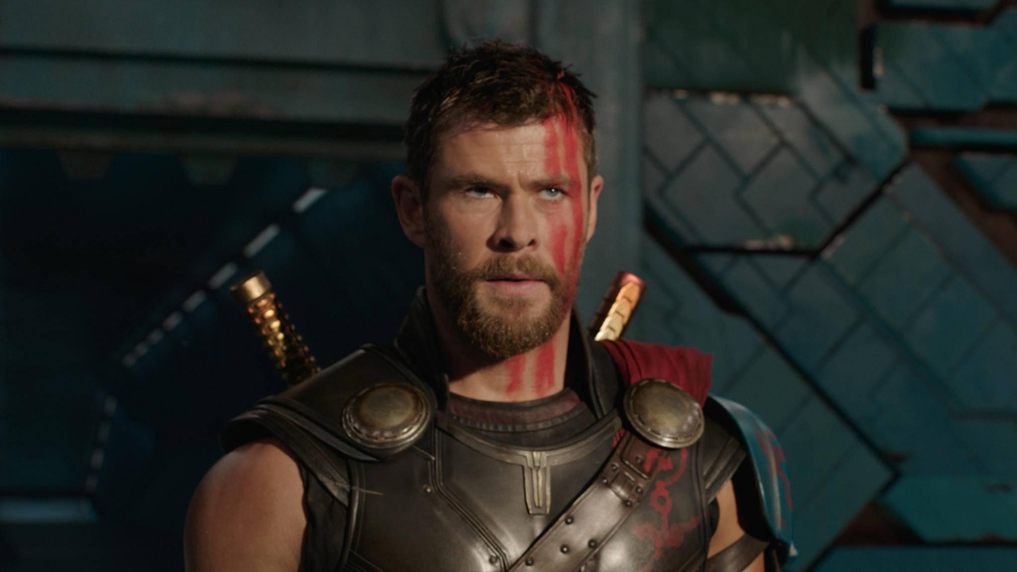 """Marvel-Donnergott Thor (Chris Hemsworth) sichert sich in """"Infinity War"""" jede Menge Zeit auf der Leinwand."""