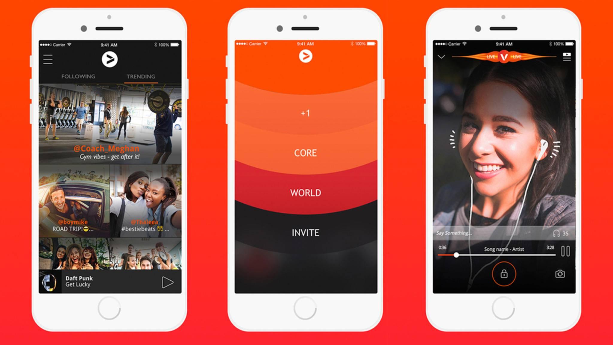 Musik hören und weltweit in Echtzeit mit Freunden teilen – die App Vertigo macht's möglich.