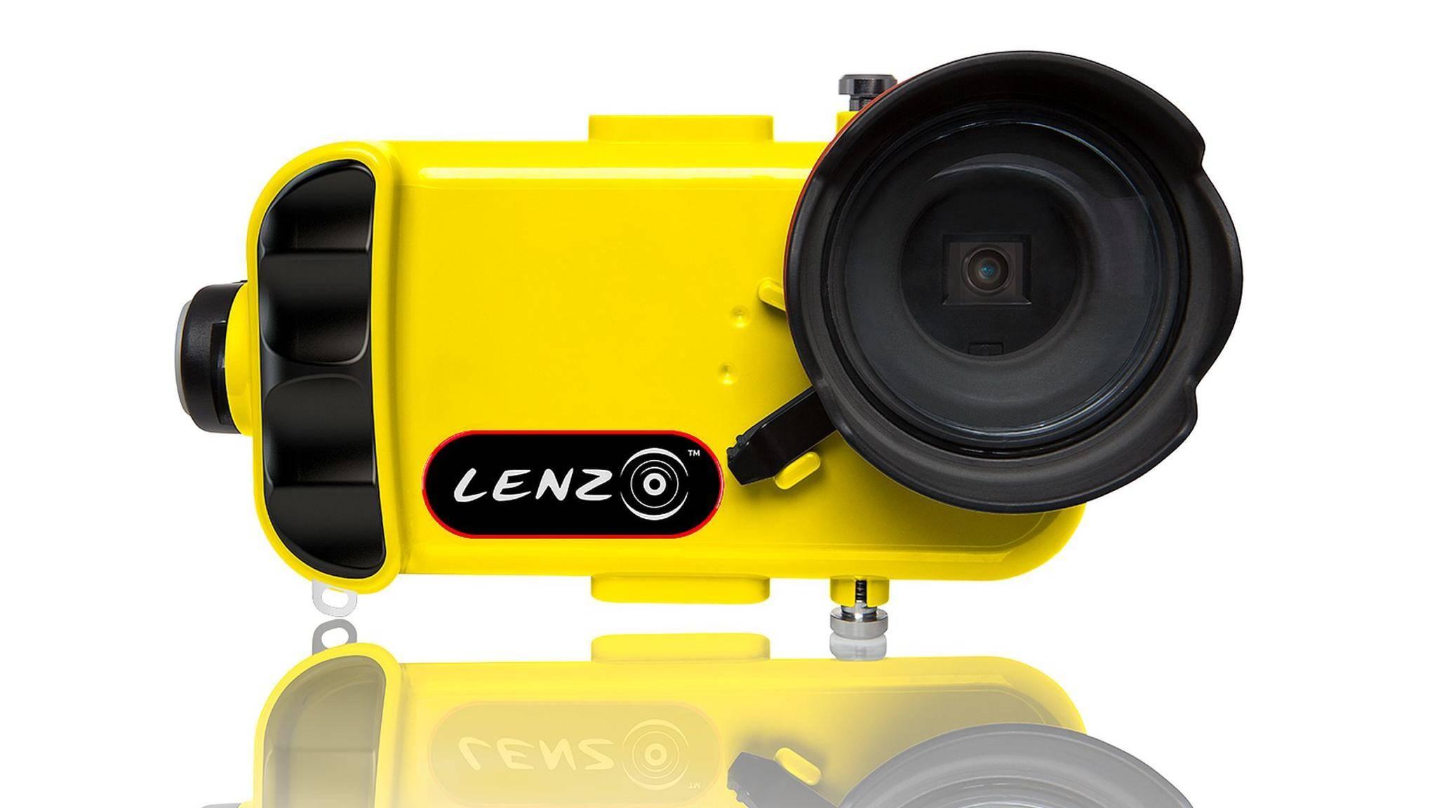 Unterwasserkamera-Aufsatz LenzO von Valstech für das iPhone.