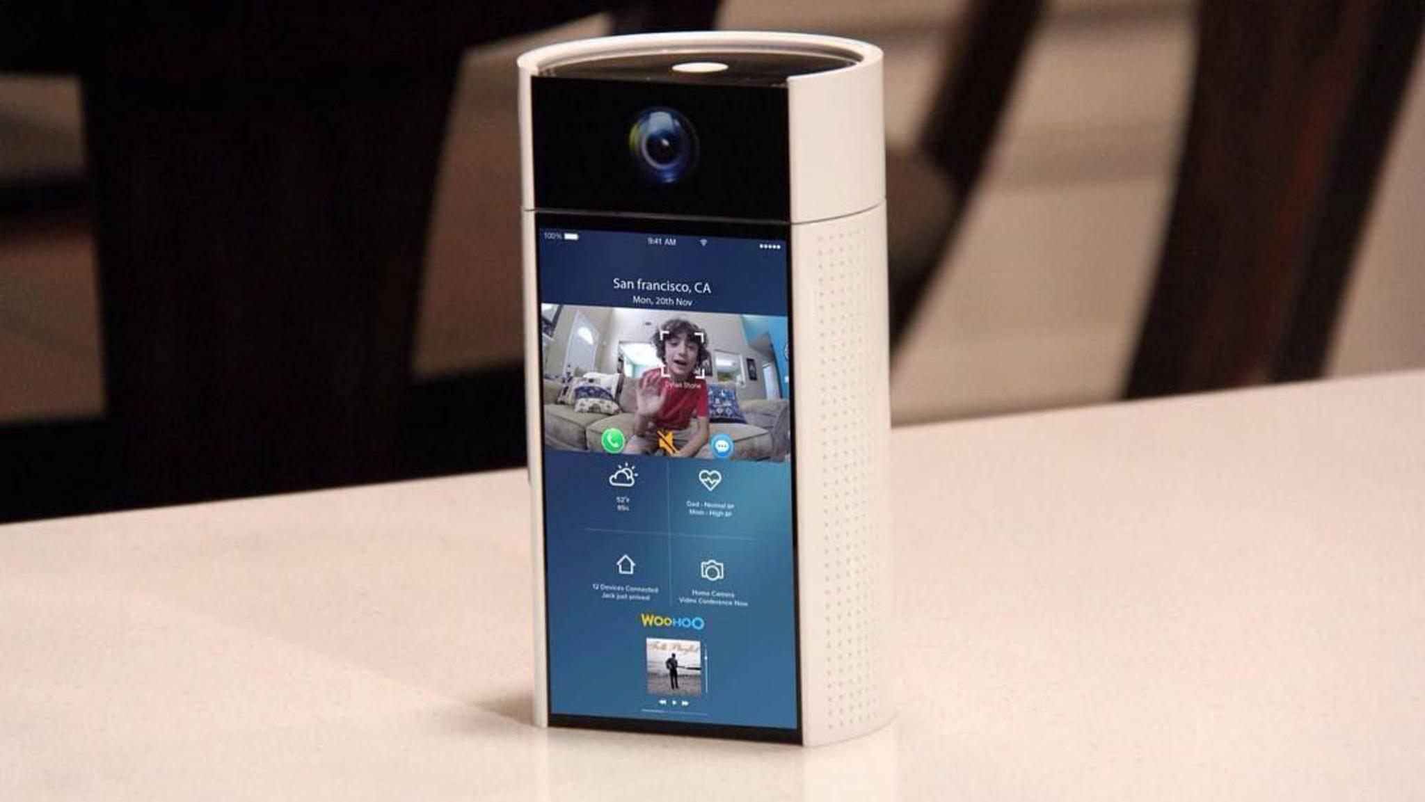 Sprachsteuerung, Gesichtserkennung und umfangreiche Smart Home-Vernetzung: WooHoo verfügt zudem über einen großen Touchscreen.