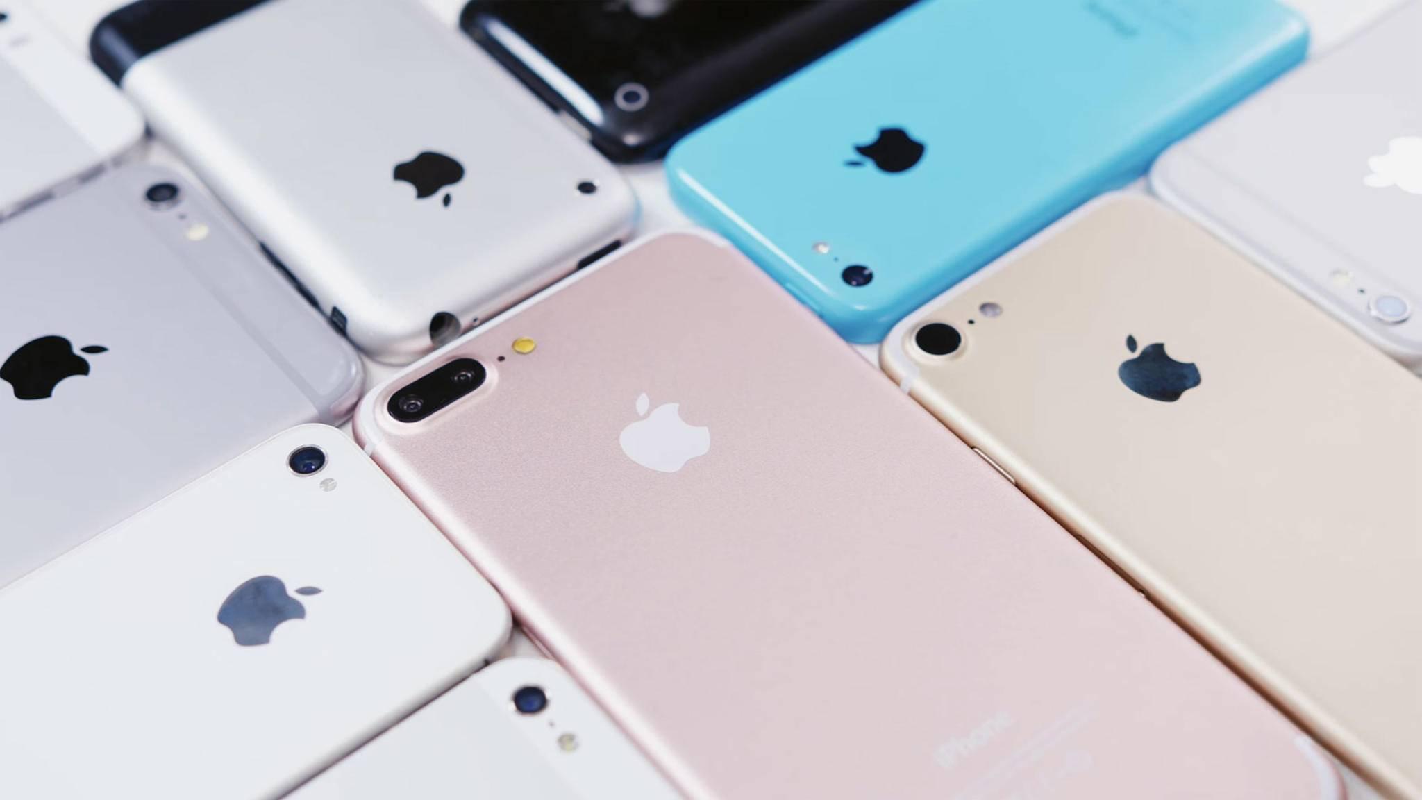 In 10 Jahren gab es insgesamt 15 unterschiedliche iPhone-Modelle.