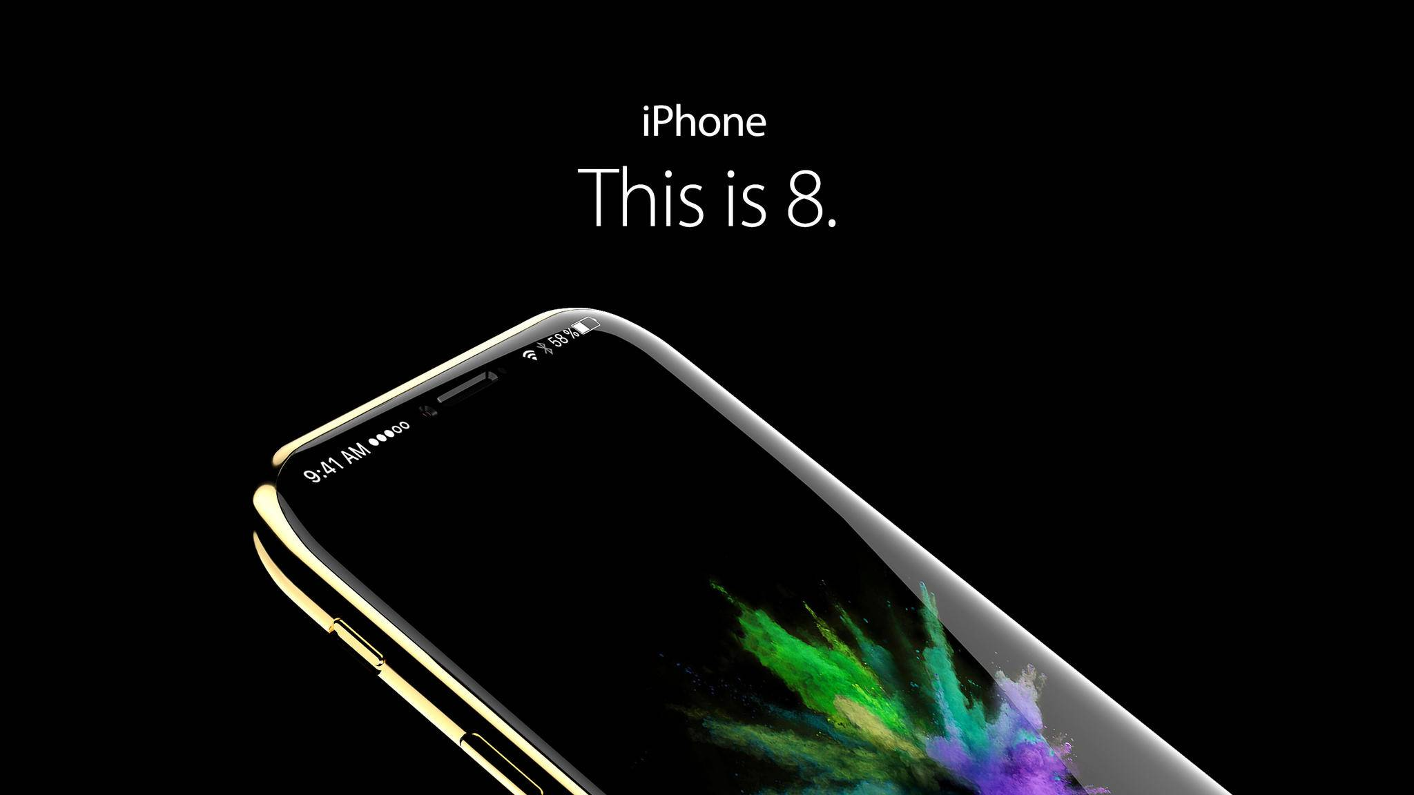 Das iPhone 8 könnte ein randloses Display bekommen.