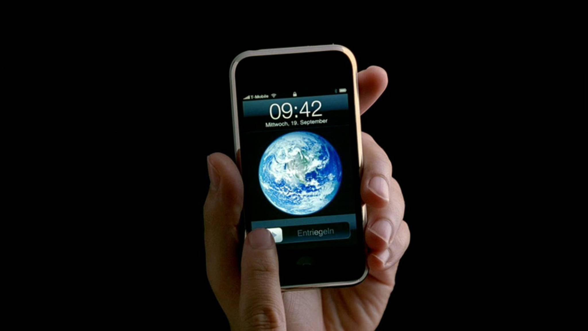 Das iPhone brauchte sich auf der Keynote keine Sorgen um WLAN oder Mobilfunknetz machen.