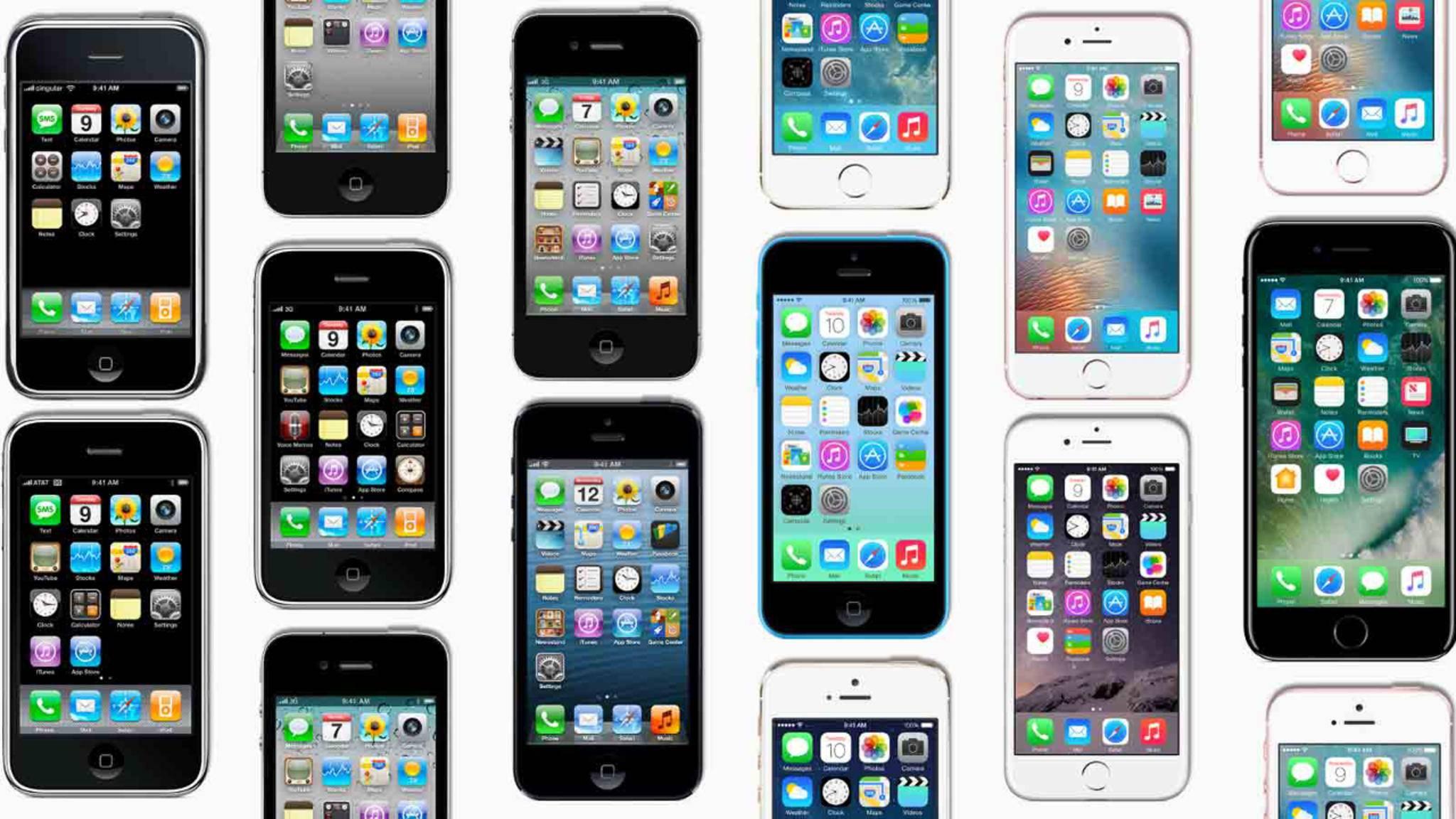 Über die Jahre hat sich iOS nicht nur optisch gehörig verändert.
