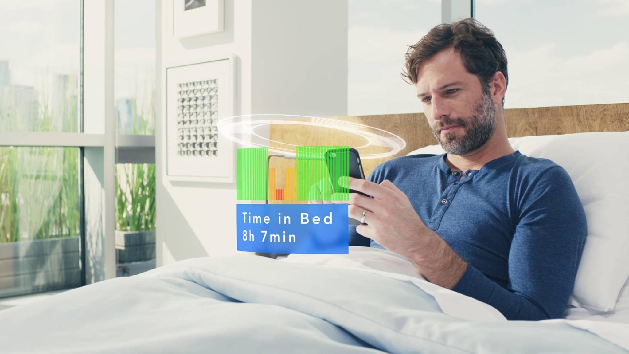 Das Sleep Number 360 bereitet das Schlafverhalten via App auf.