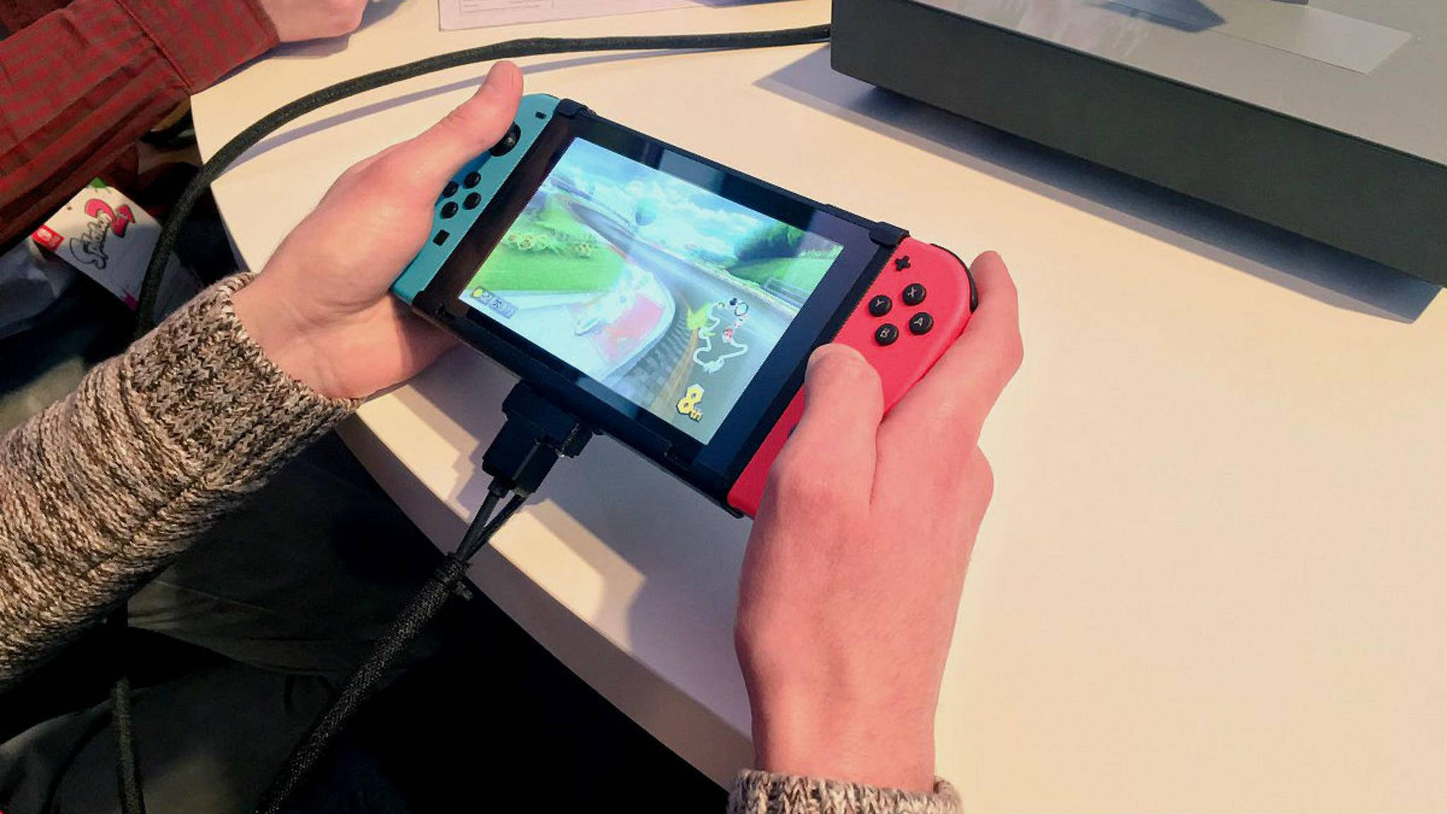 Nintendo Switch im Handheld-Modus.