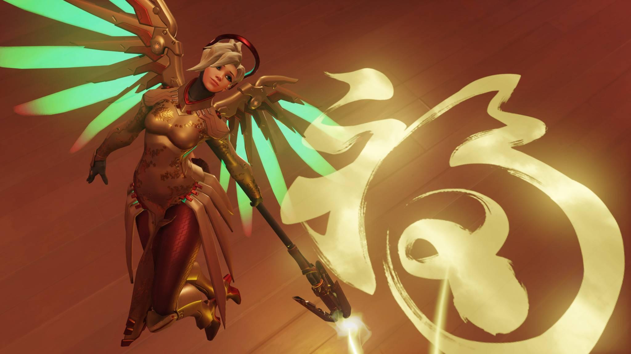 Auch Support-Charakter Mercy freut sich über die Vielzahl an Overwatch-Spielern.