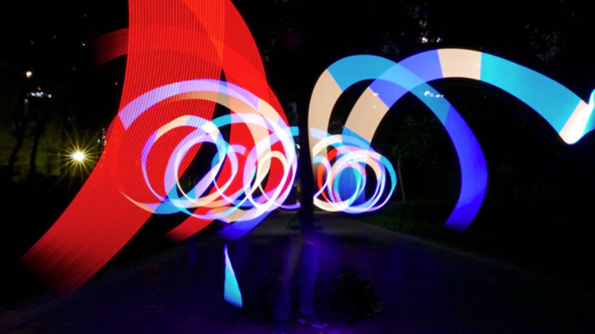 Das Gadget Pixelvar ermöglicht Lightpainting.