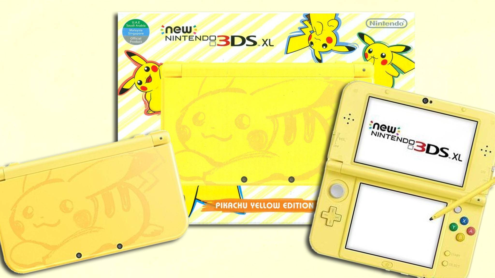 New 3DS XL mit Pokémon Pikachu.