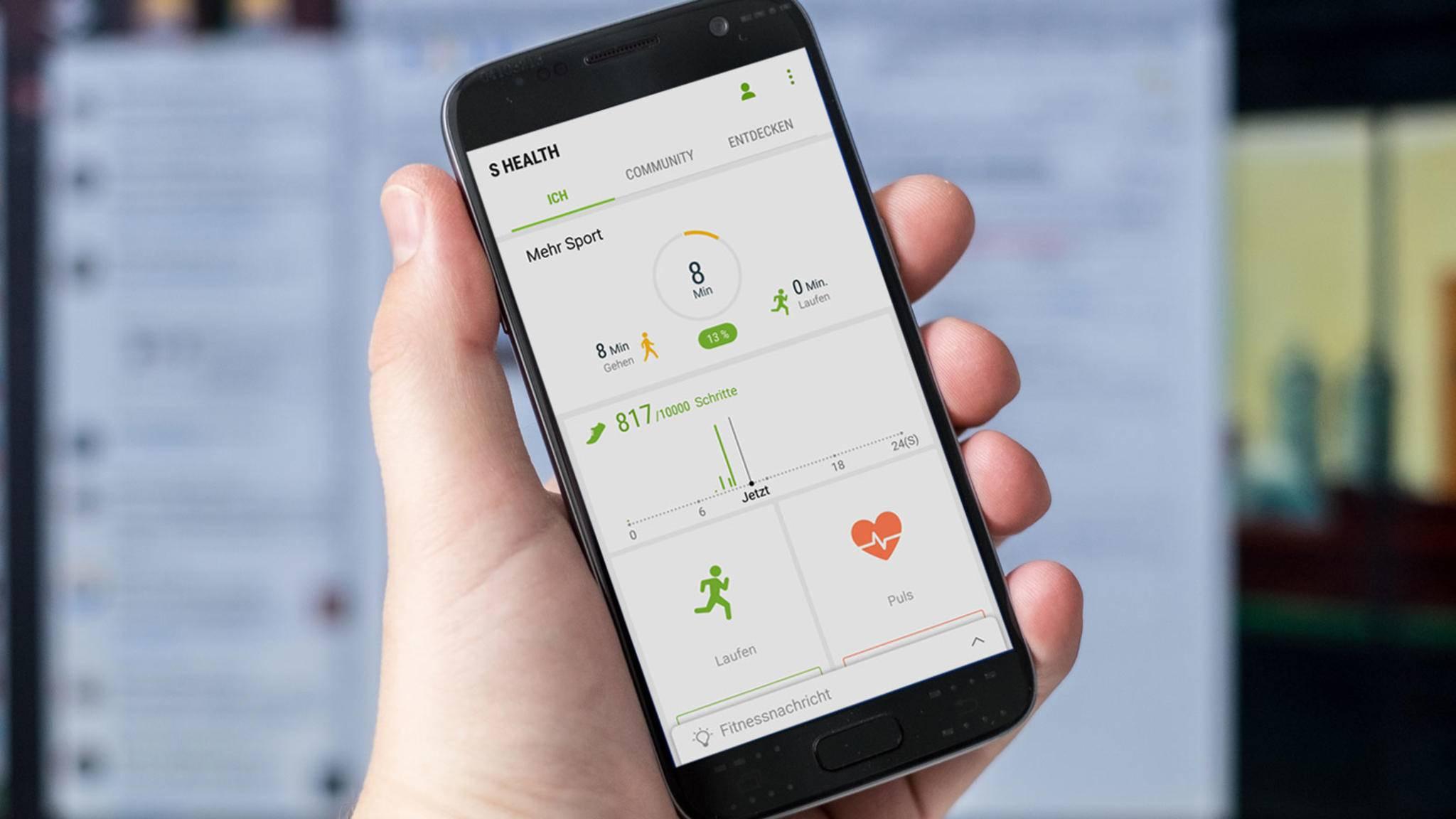 Samsung S Health auf einem Galaxy S7