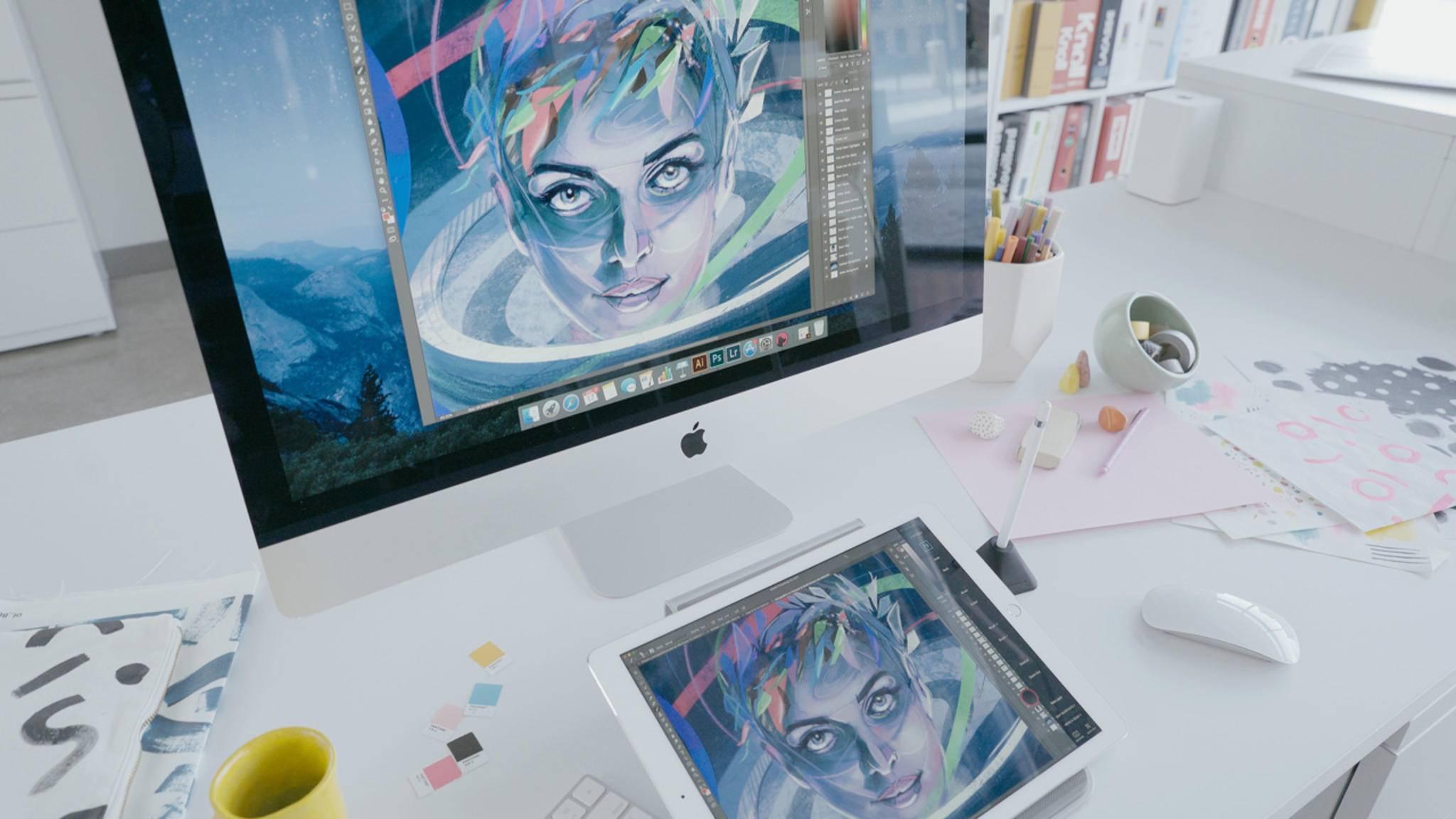 Mit Astropad Studio lässt sich das iPad zum Grafiktablet für intuitives Zeichnen am Mac umfunktionieren.
