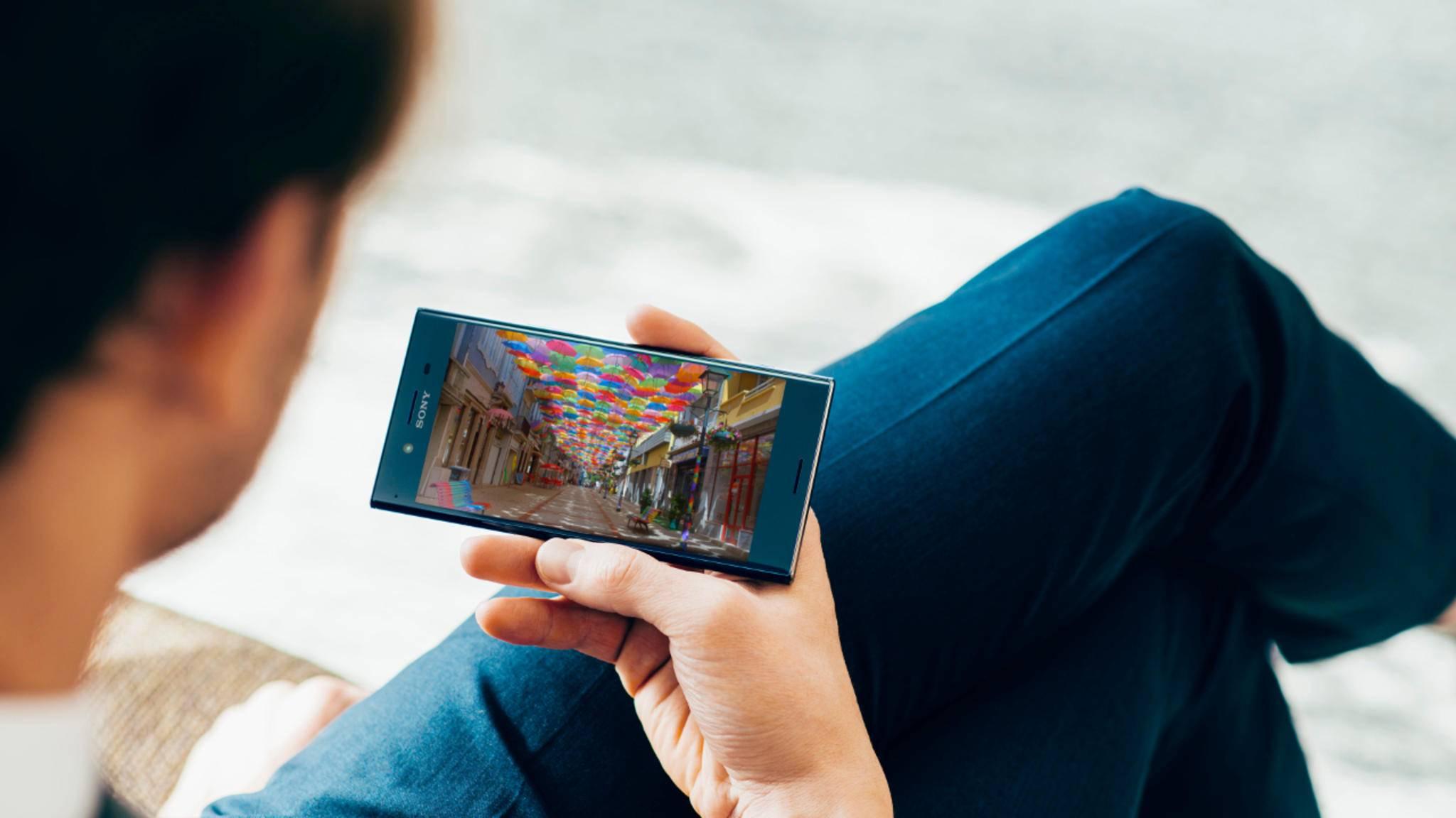 Das Xperia XZ Premium hat ein 4K-HDR-Display.