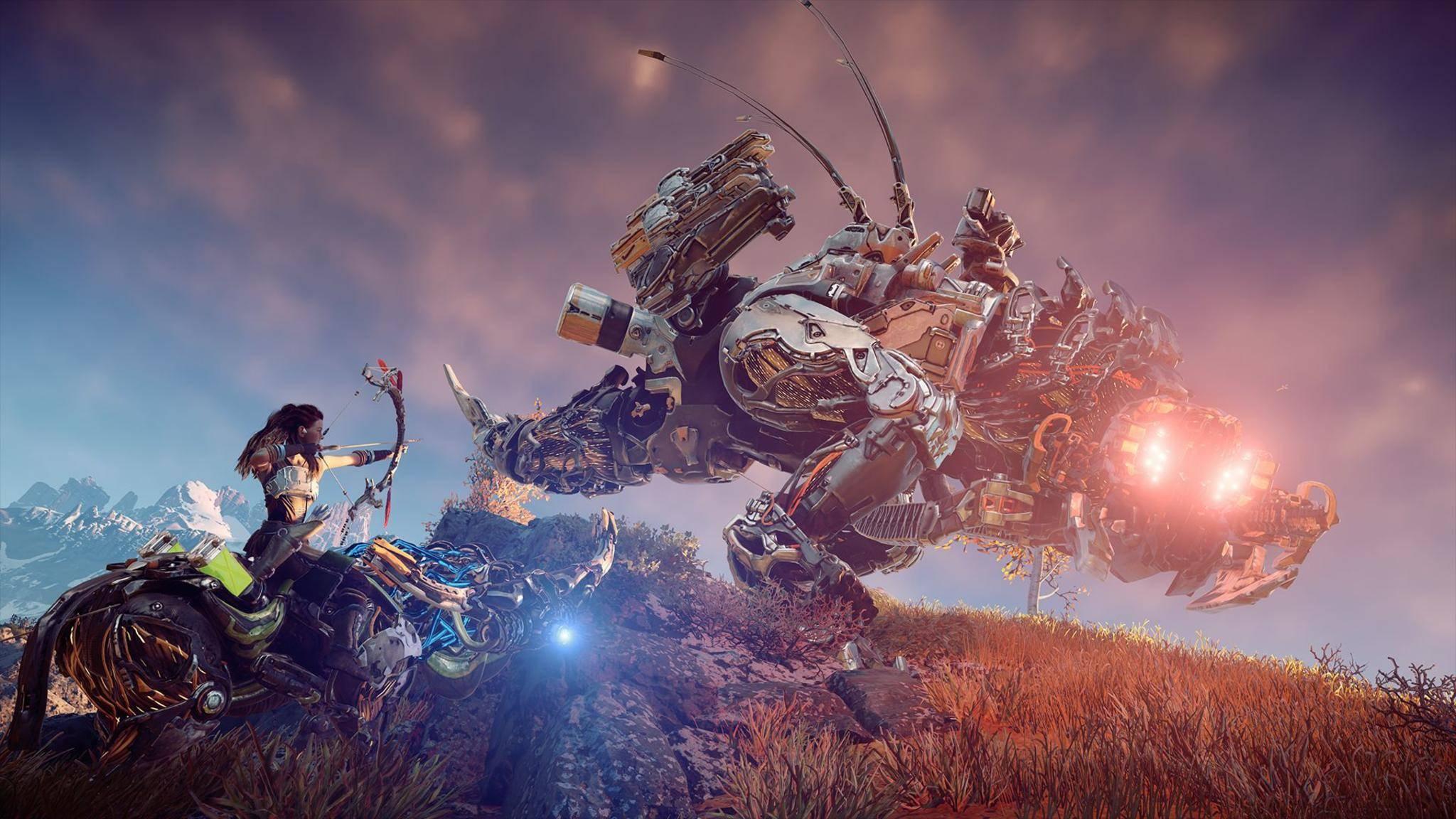 Der Kampf gegen und das Zähmen von Robotern steht im Gameplay-Mittelpunkt.