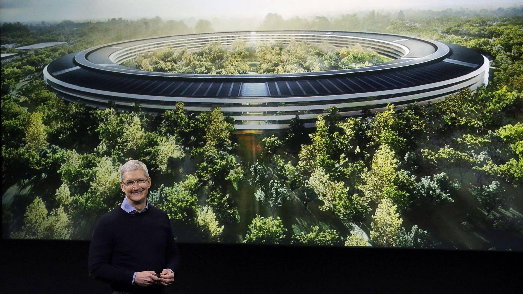 Beeindruckend: Tim Cook bei der Präsentation des Apple Campus im Mai 2016.