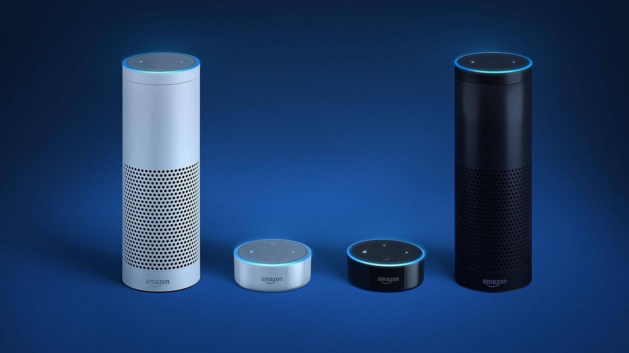 Der Echo-Lautsprecher von Amazon kann per Sprachbefehl gesteuert werden.
