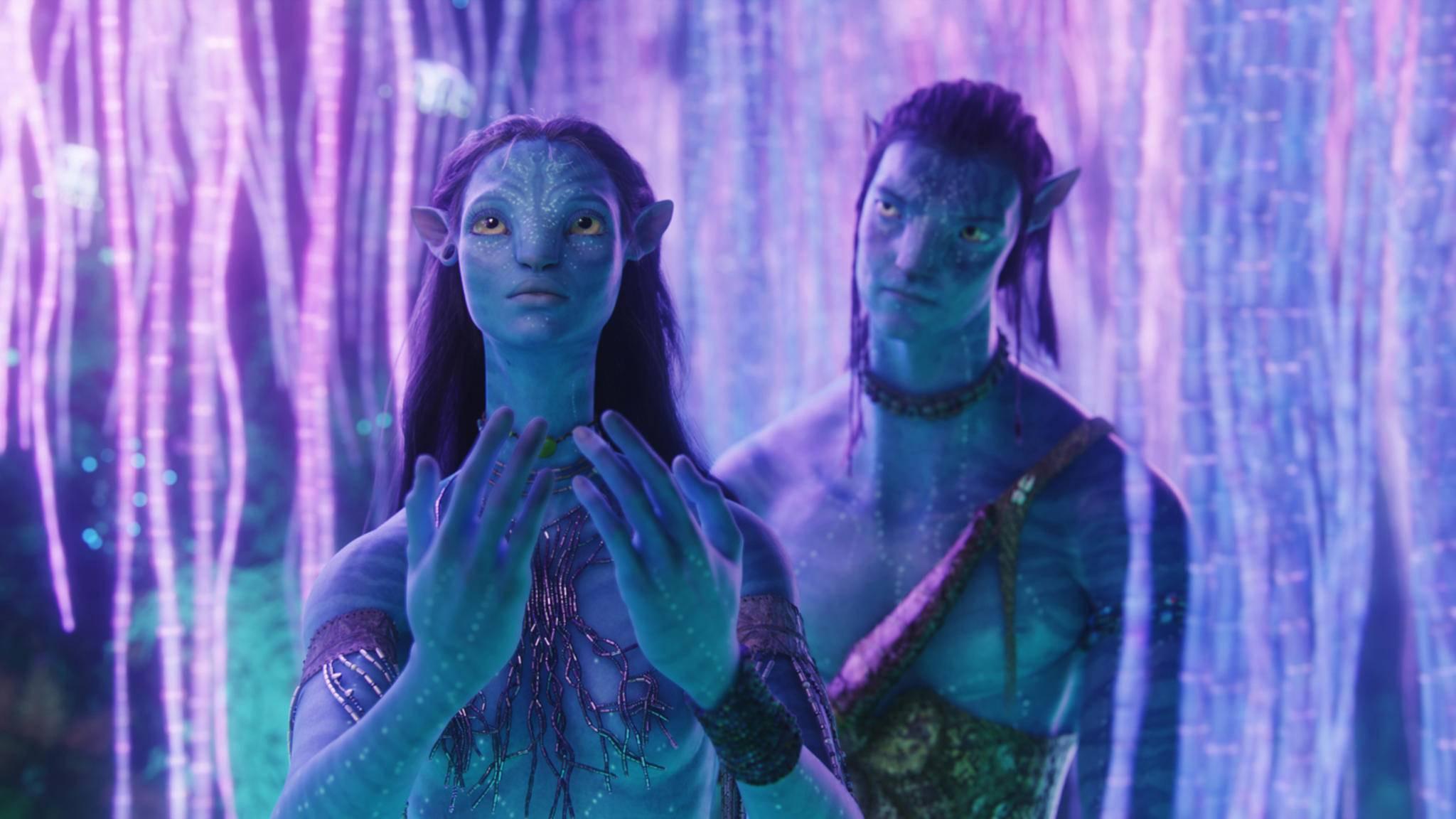 """Neytiri und Jake müssen in """"Avatar 2"""" mit ganz neuen Herausforderungen kämpfen,"""