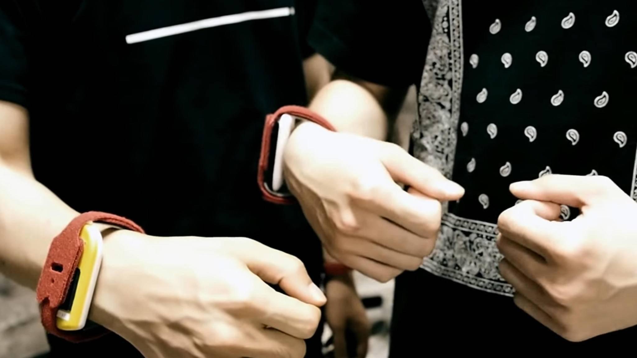 Die Armbänder von BeatMoovz übertragen jede Bewegung an eine App – diese liefert dann den passenden Sound.
