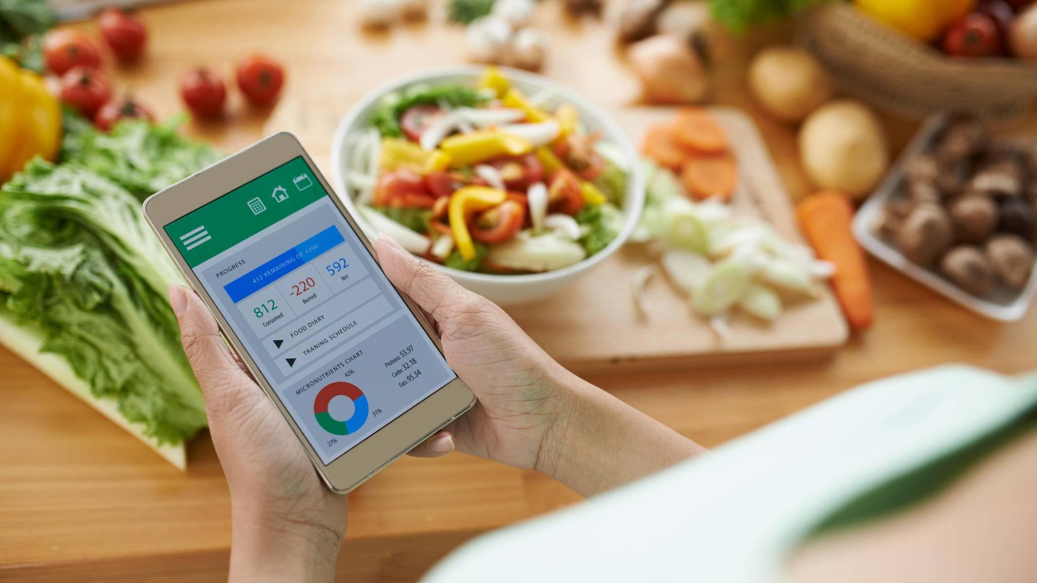 Mit Kalorien-Apps behalten die User den Überblick.