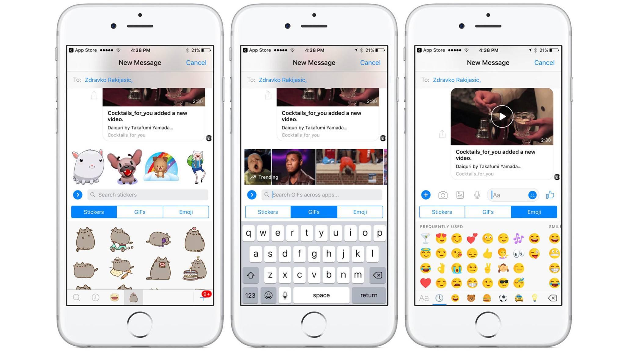 Den Facebook Messenger gibt es jetzt im iMessage-Look – aber nur testweise.
