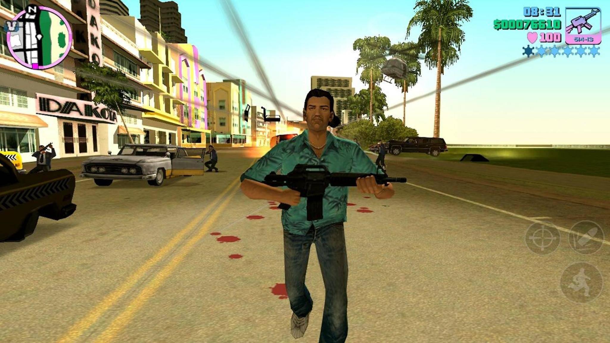 """Macht auch mobil Spaß: """"GTA: Vice City""""."""