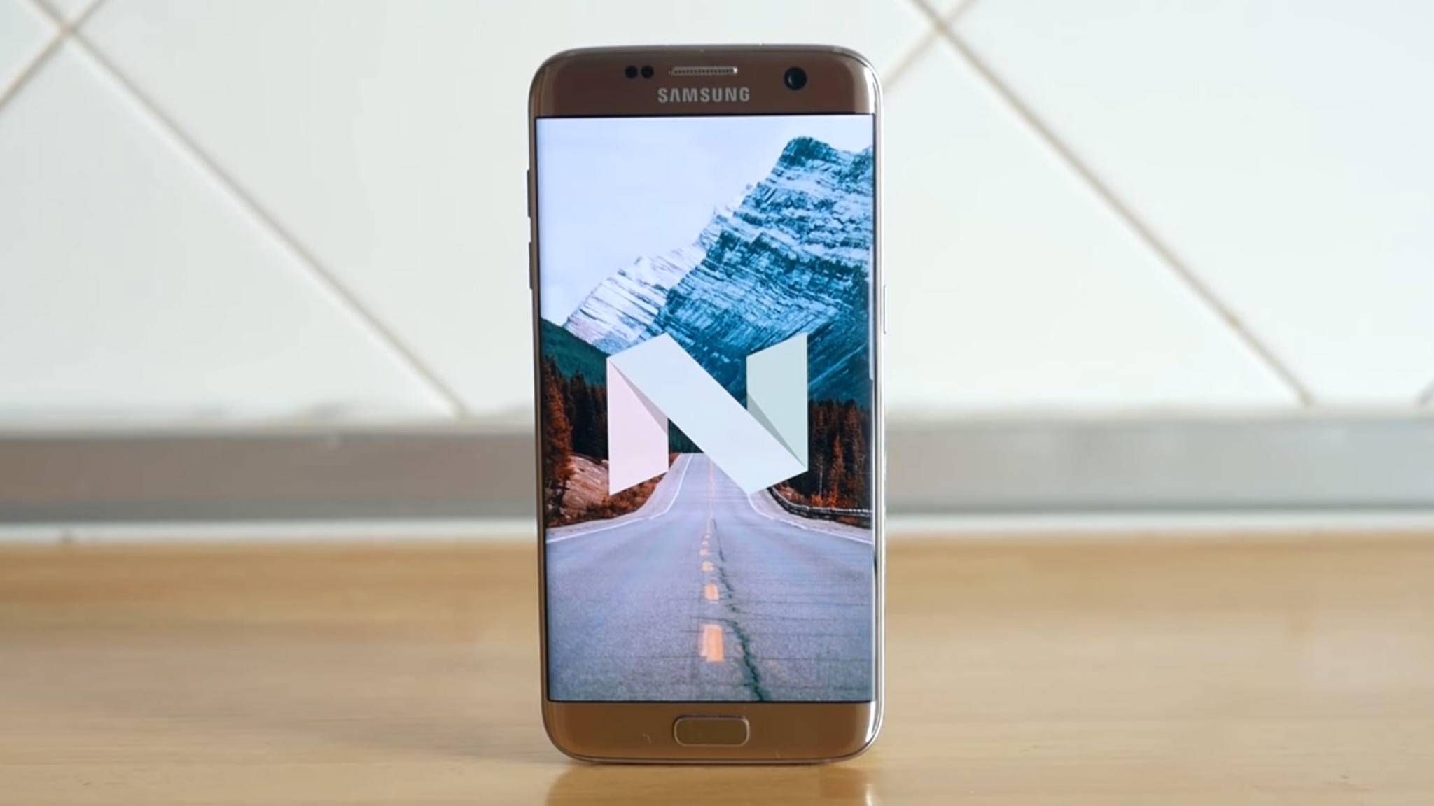 Android 7.0 wird für ungebrandete Galaxy S7-Smartphones verteilt.