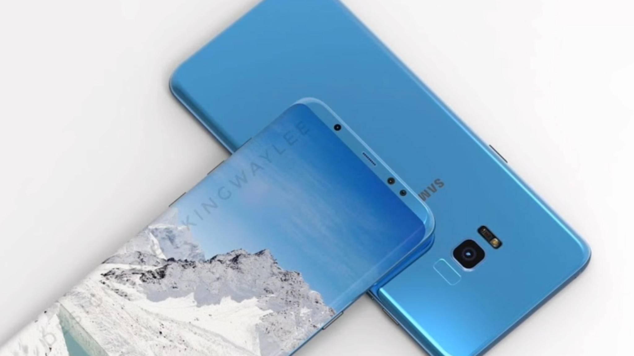 Außer in einer blauen könnte das Galaxy S8 auch in einer violetten Variante erscheinen.