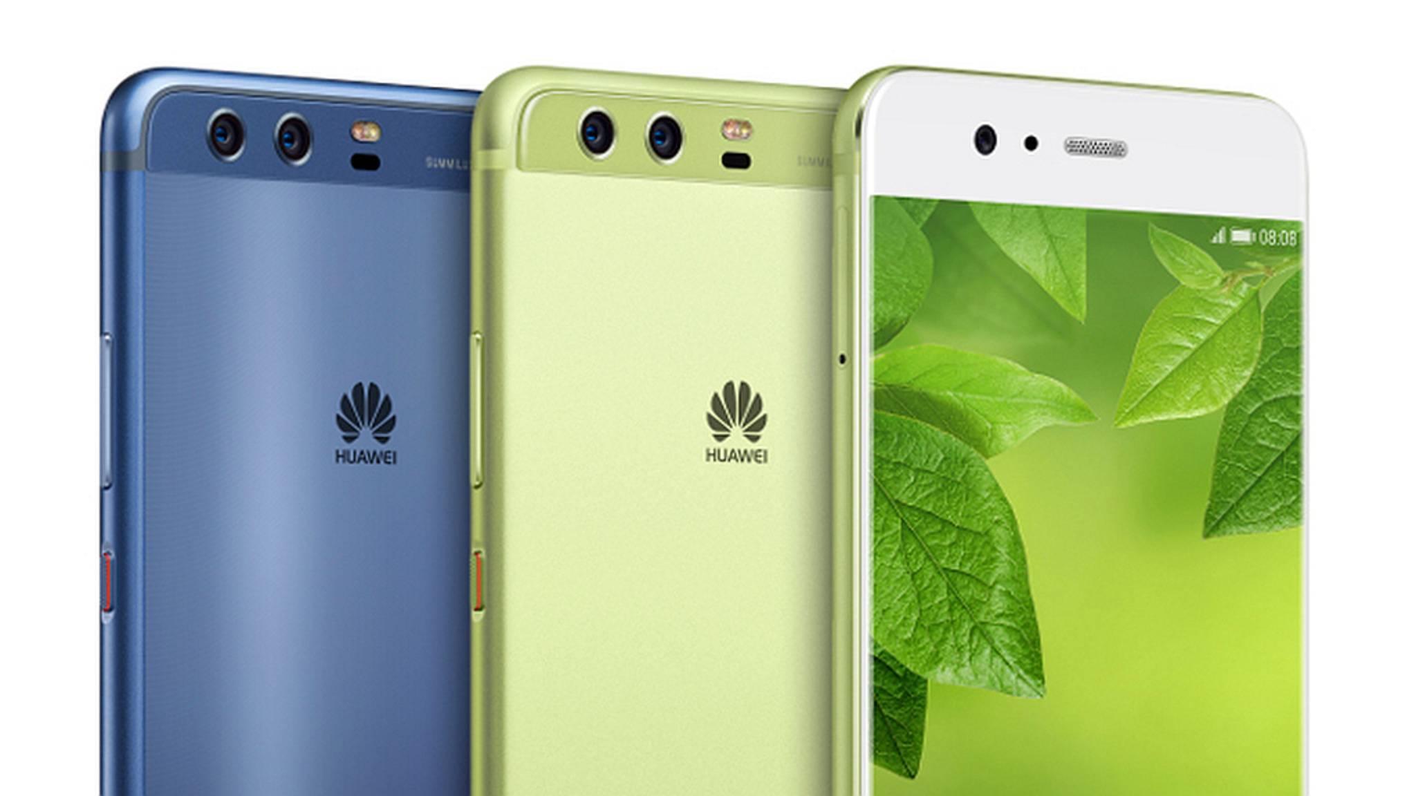 Das Huawei P10 fällt durch sein buntes Gehäuse schnell auf.