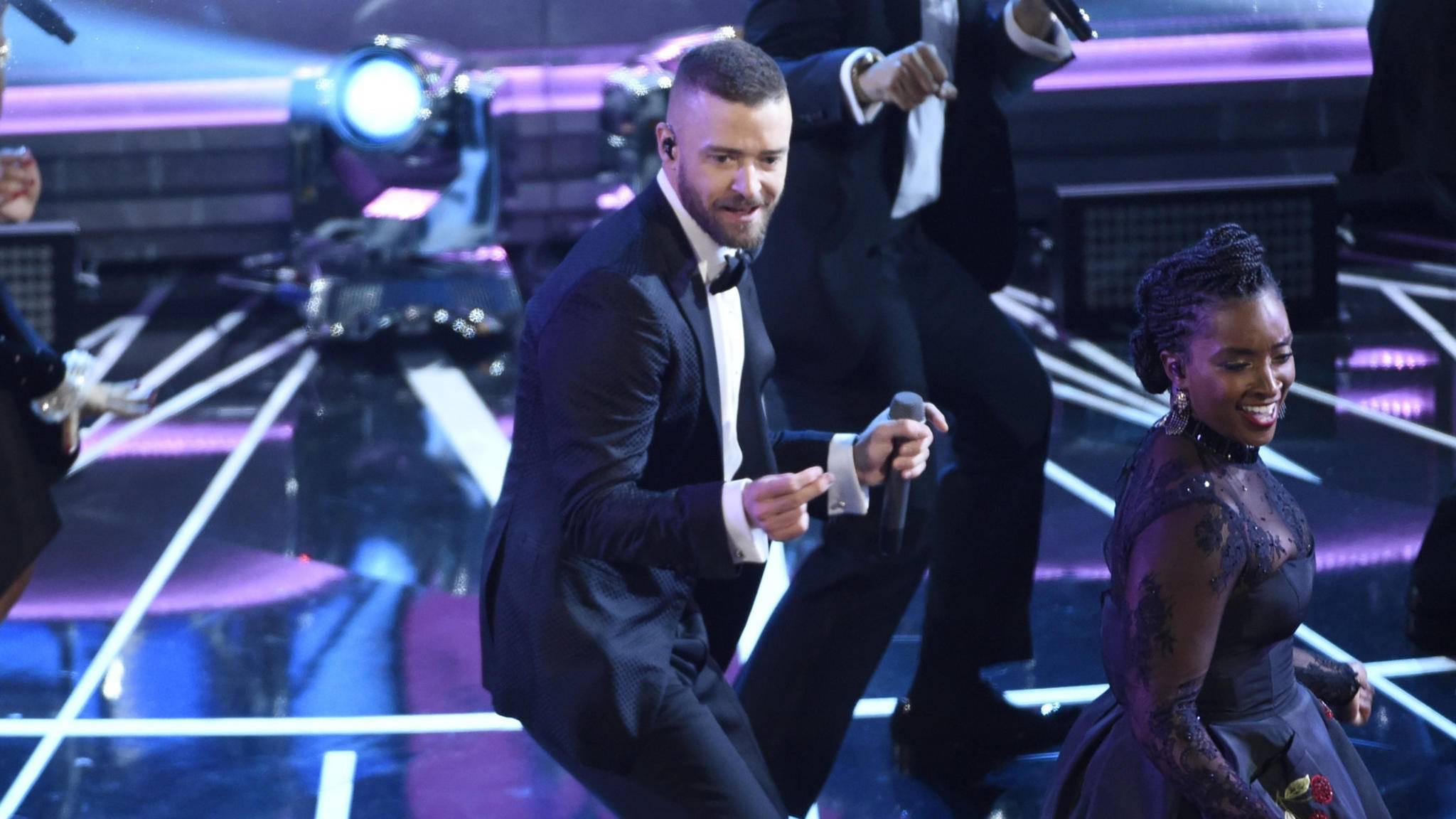 Oscars 2017: Justin Timberlake riss das Publikum mit.