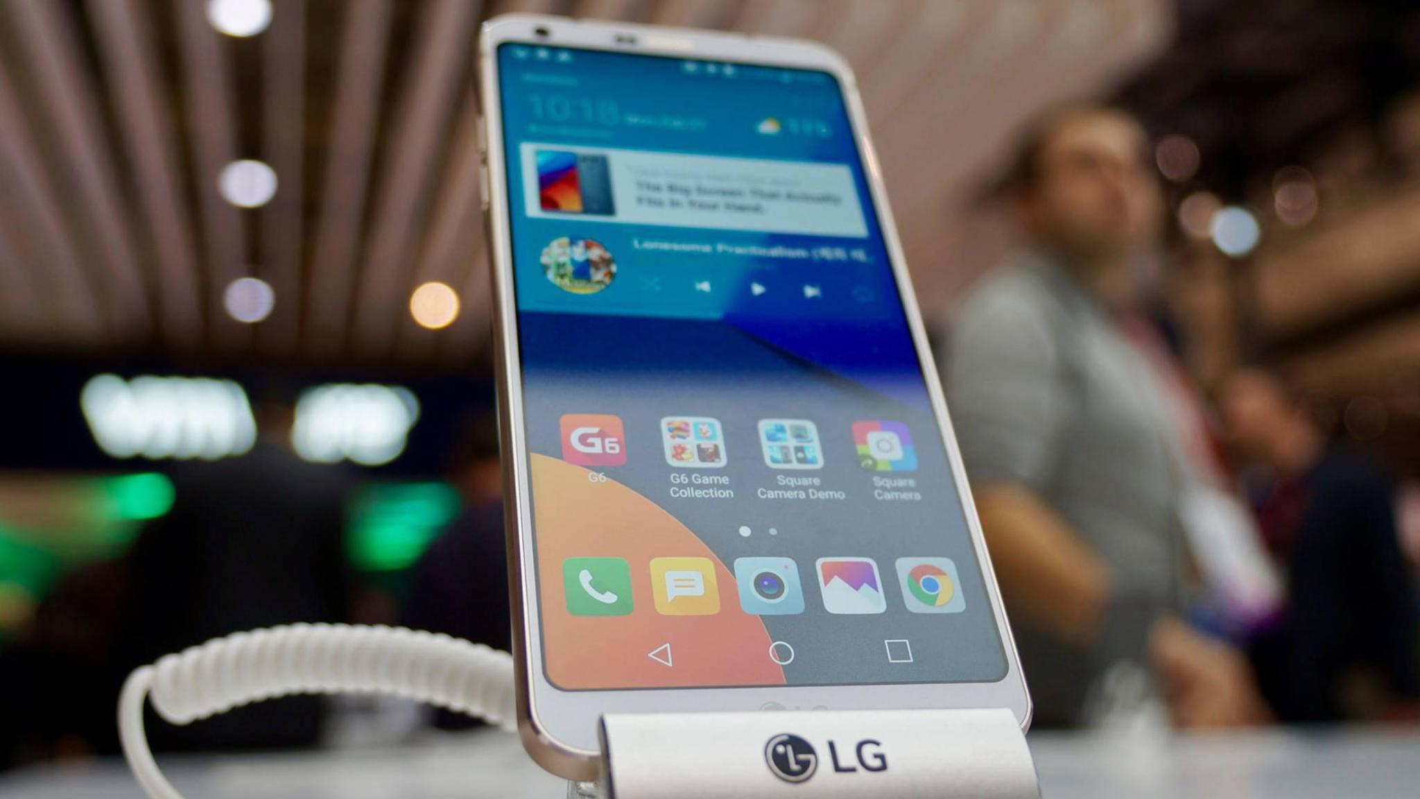 Da ist es: Das LG G6.