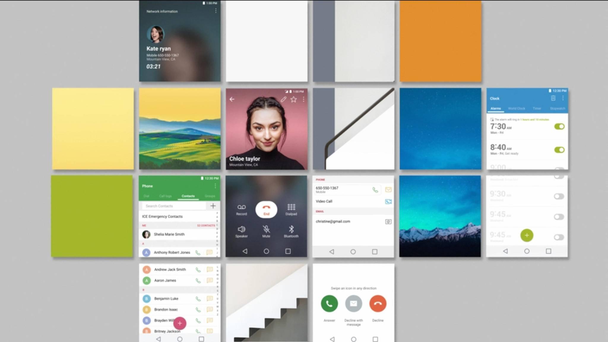 So sieht also das User Interface des neuen LG G6 aus.