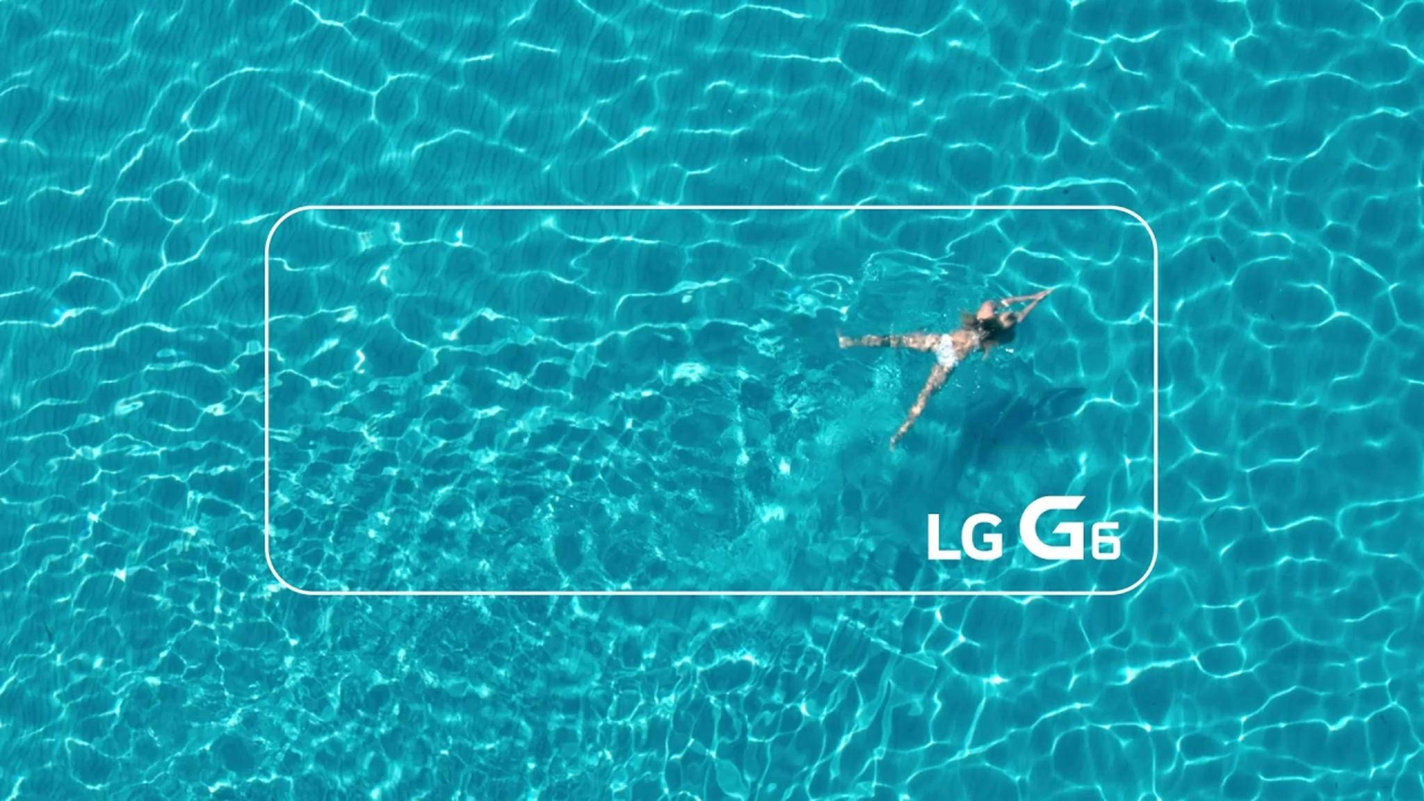 Mit dem LG G6 in den Pool? Angeblich kein Problem.