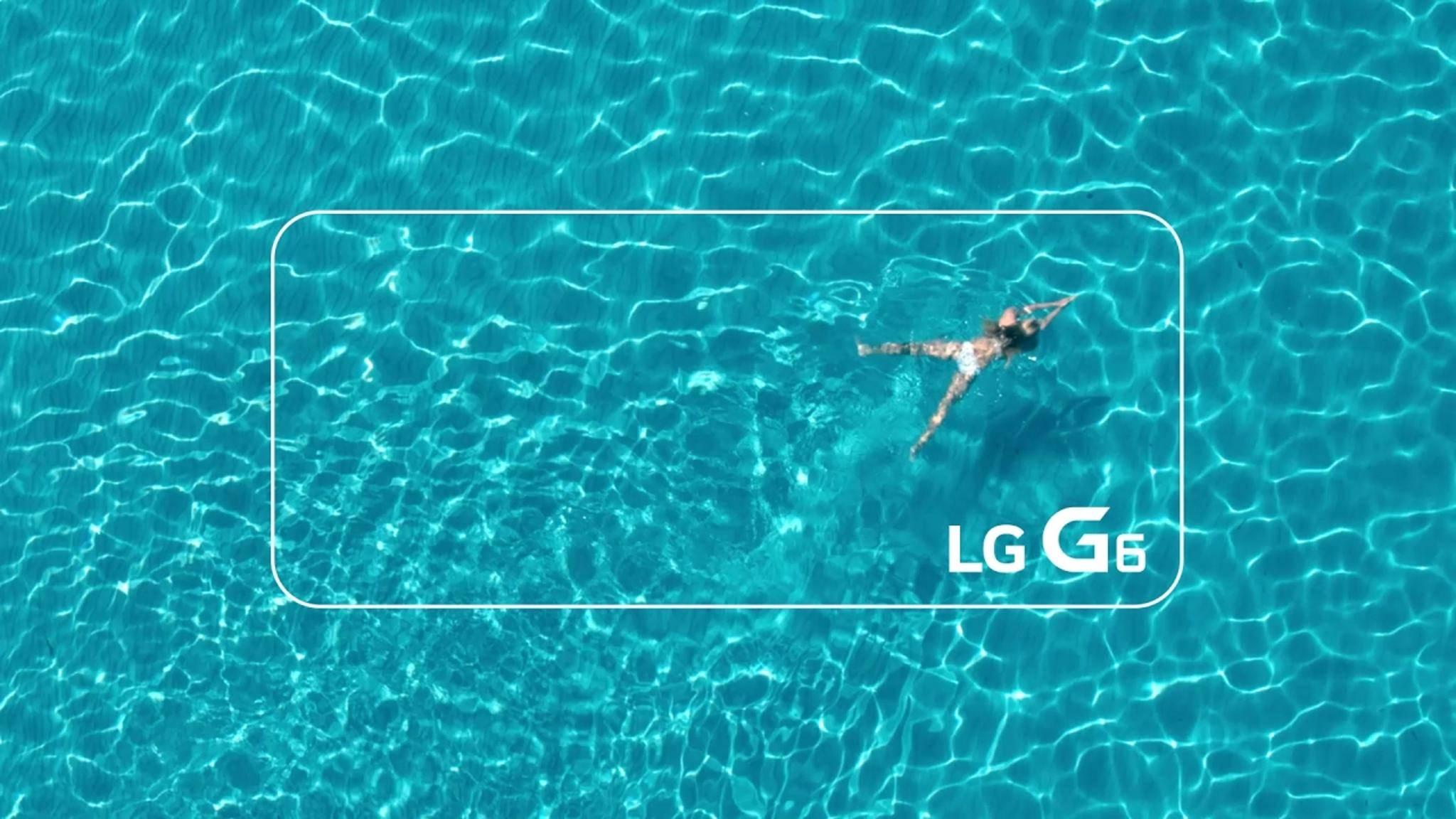 Mit dem LG G6 in den Pool? Angeblich kein Problem.