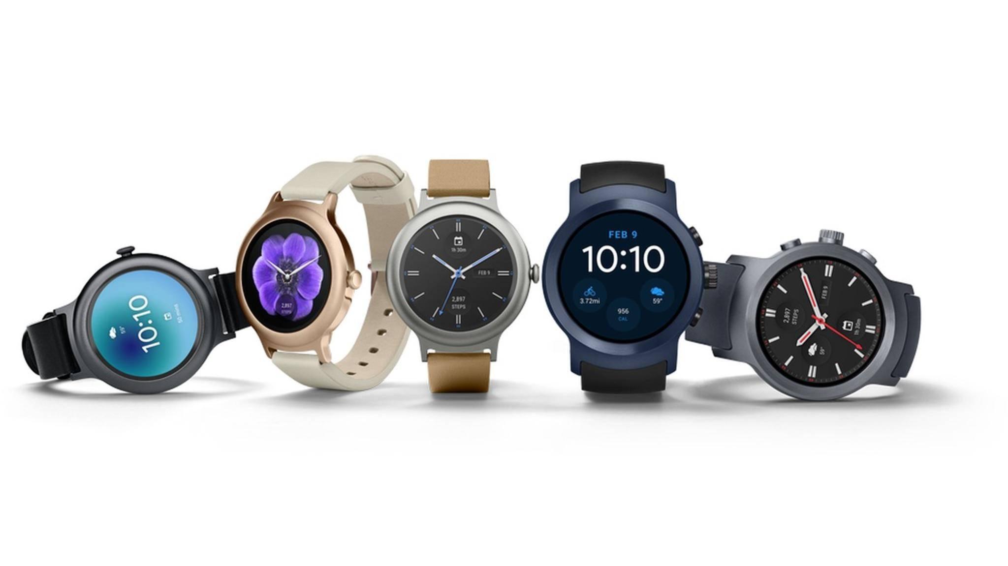 Die LG Watch Style und die LG Watch Sport gehören zu den ersten Smartwatches mit Android 2.0.